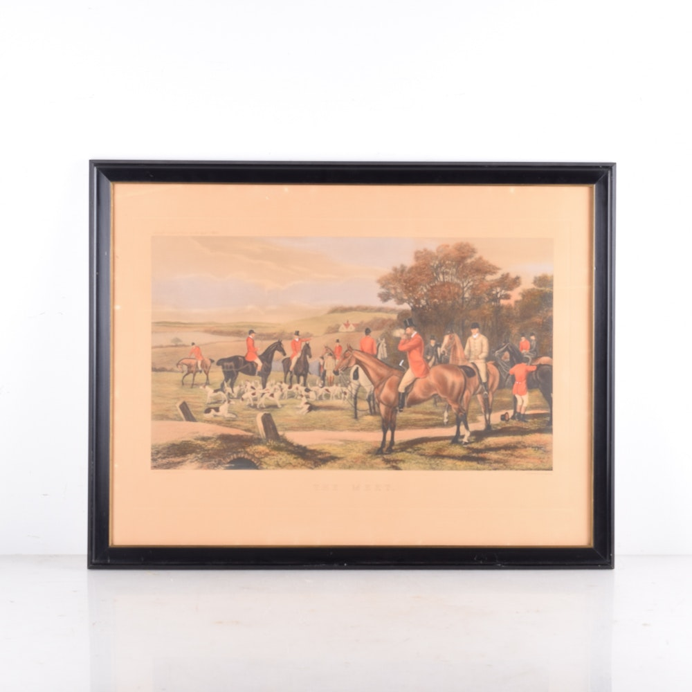 "William Sheldon Engraving with Aquatint ""The Meet"""