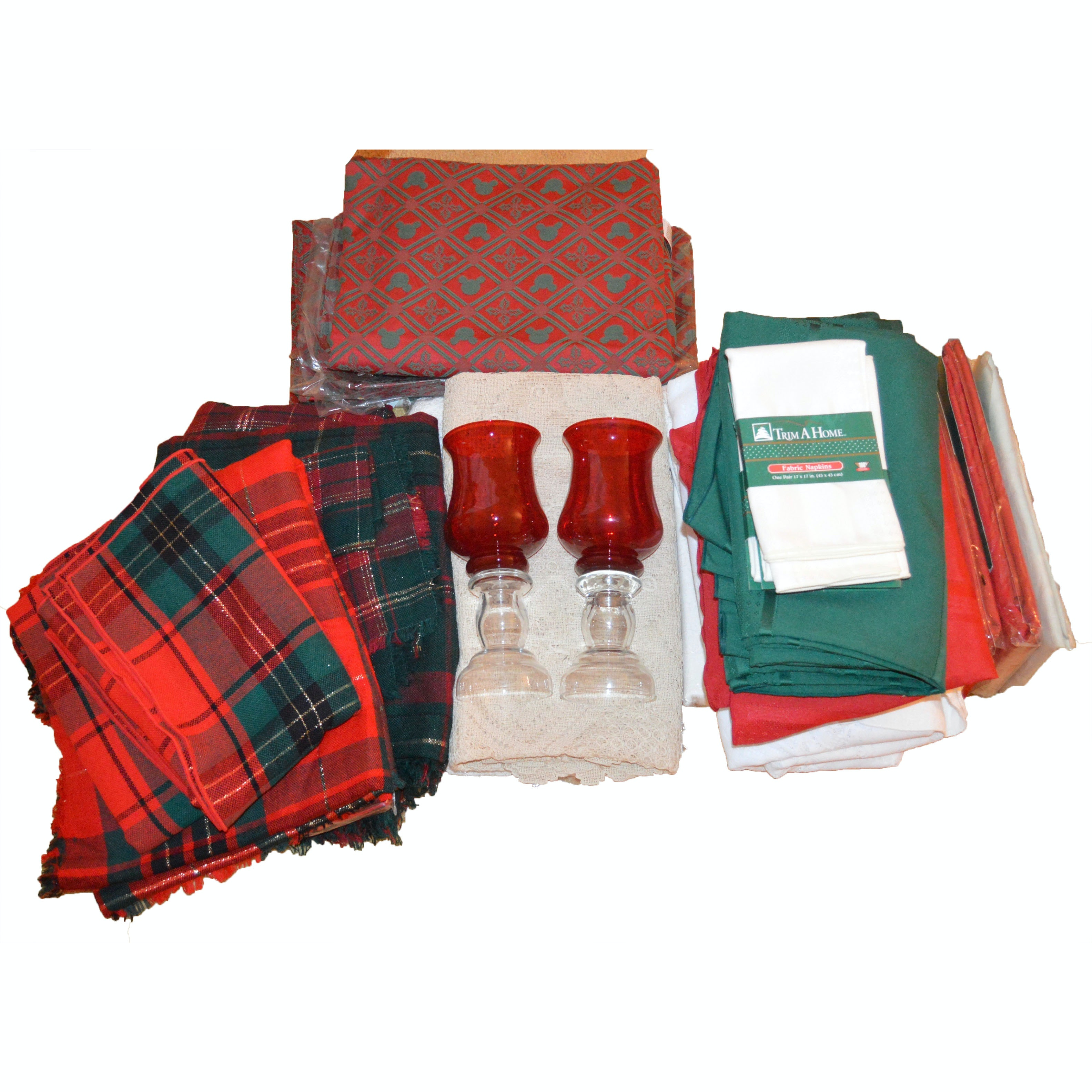 Generous Assortment of Holiday Table Linens
