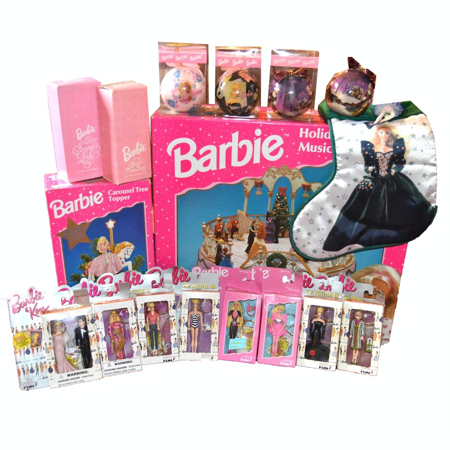 Barbie Keychains and Holiday Collectibles