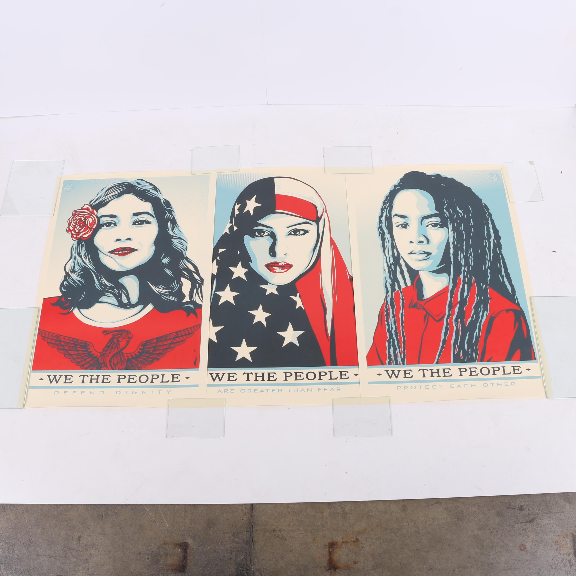 """Collection of Shepard Fairey Offset Lithographs """"We The People"""""""