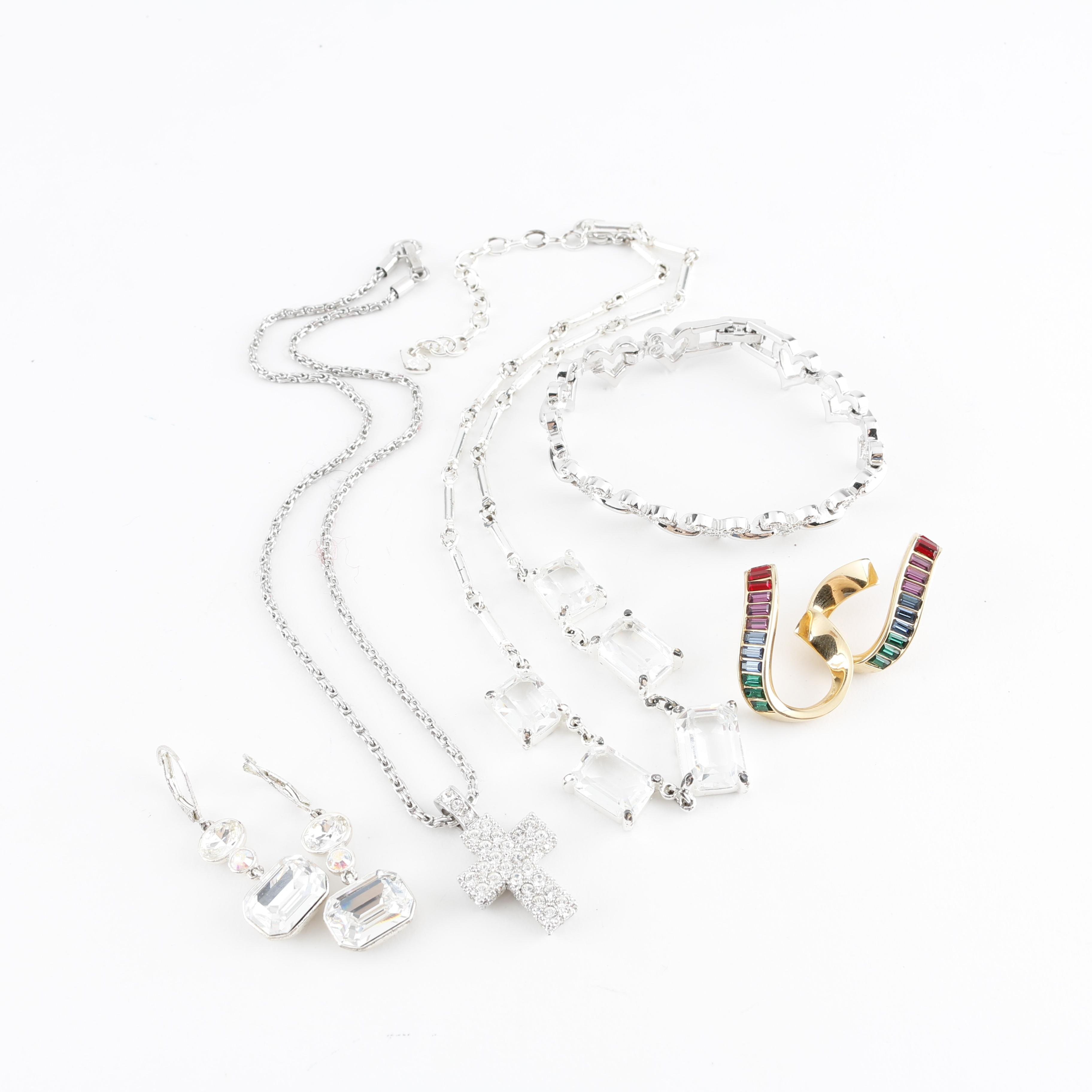 Grouping of Swarovski Jewelry and Pair of Givenchy Earrings