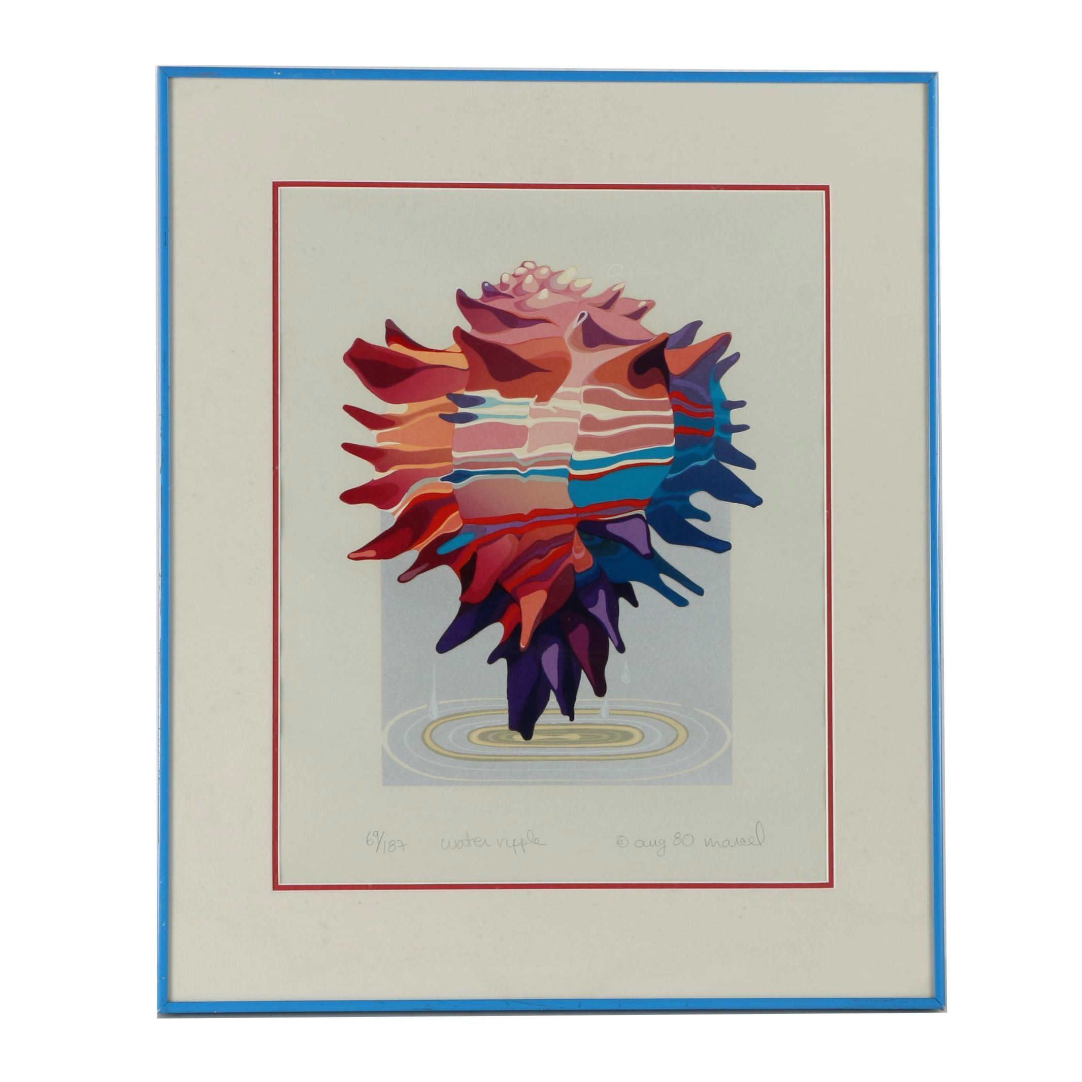 "Marcel Limited Edition Serigraph Print ""Water Ripple"""