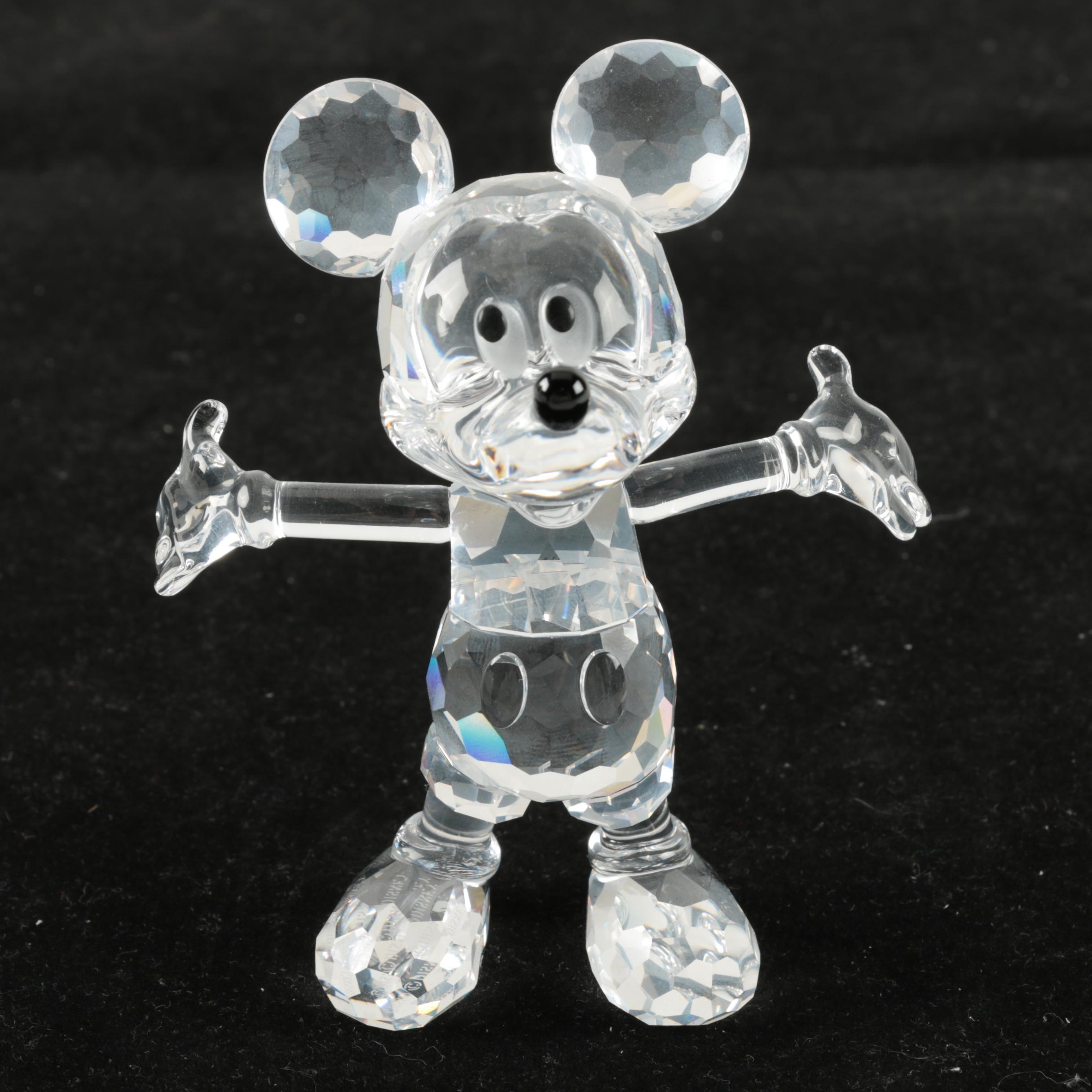 Swarovski Crystal Mickey Mouse Figurine