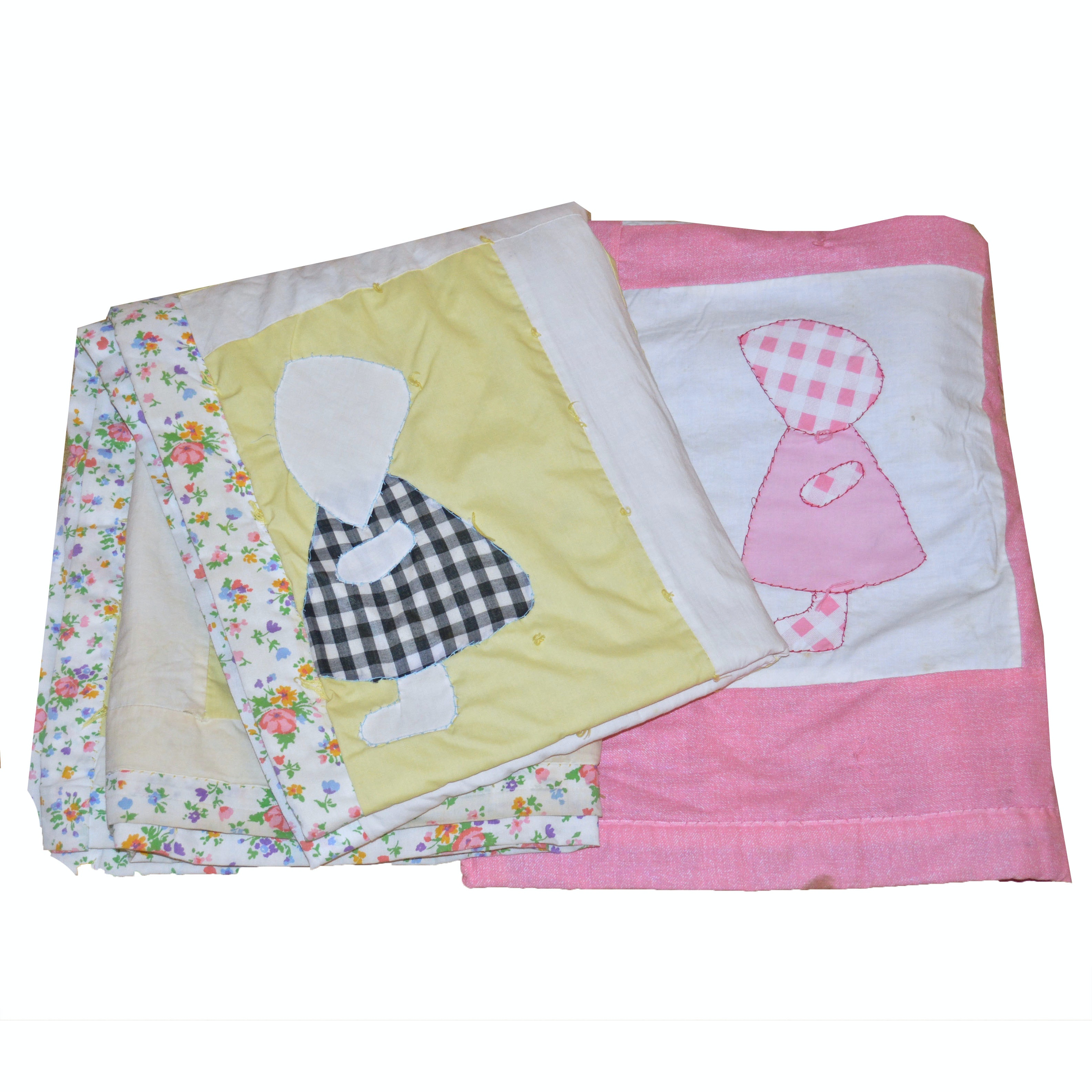 Vintage Hand-Sewn Quilt and Crib Blanket