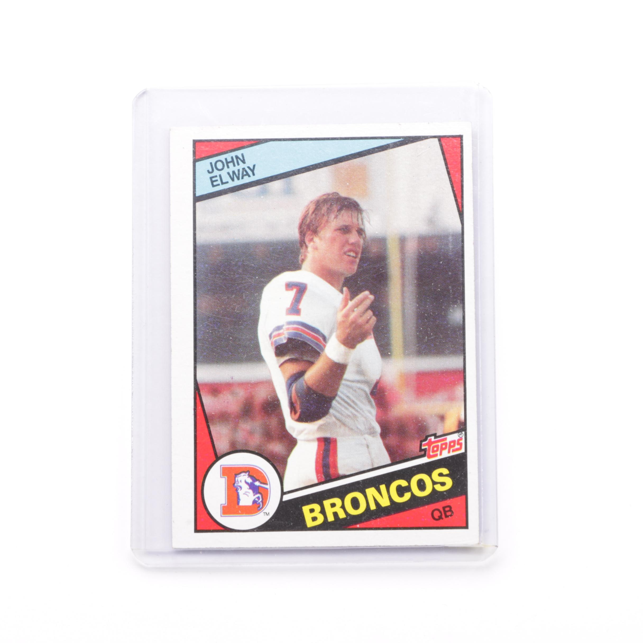 1984 Topps 63 John Elway Football Card