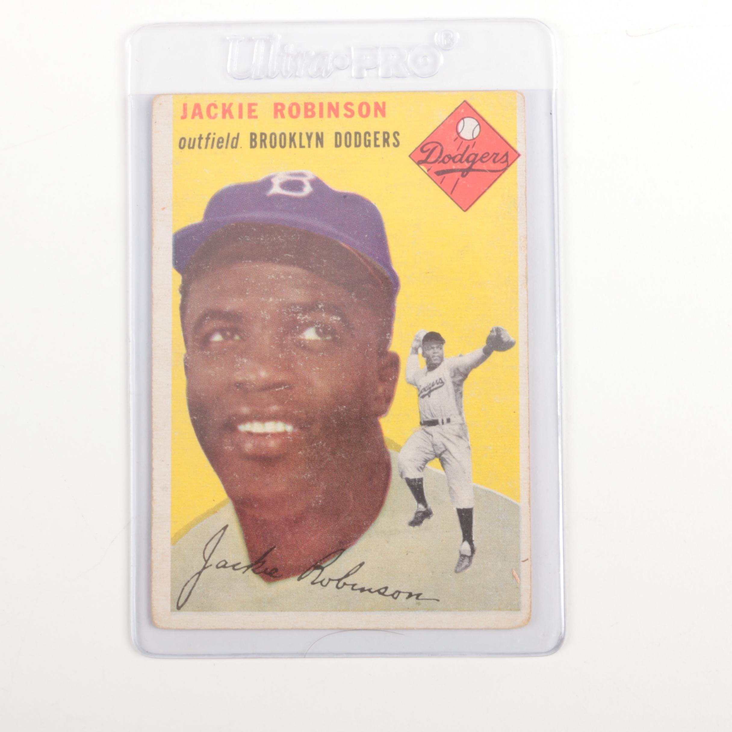 Jackie Robinson 1954 Topps Baseball Card