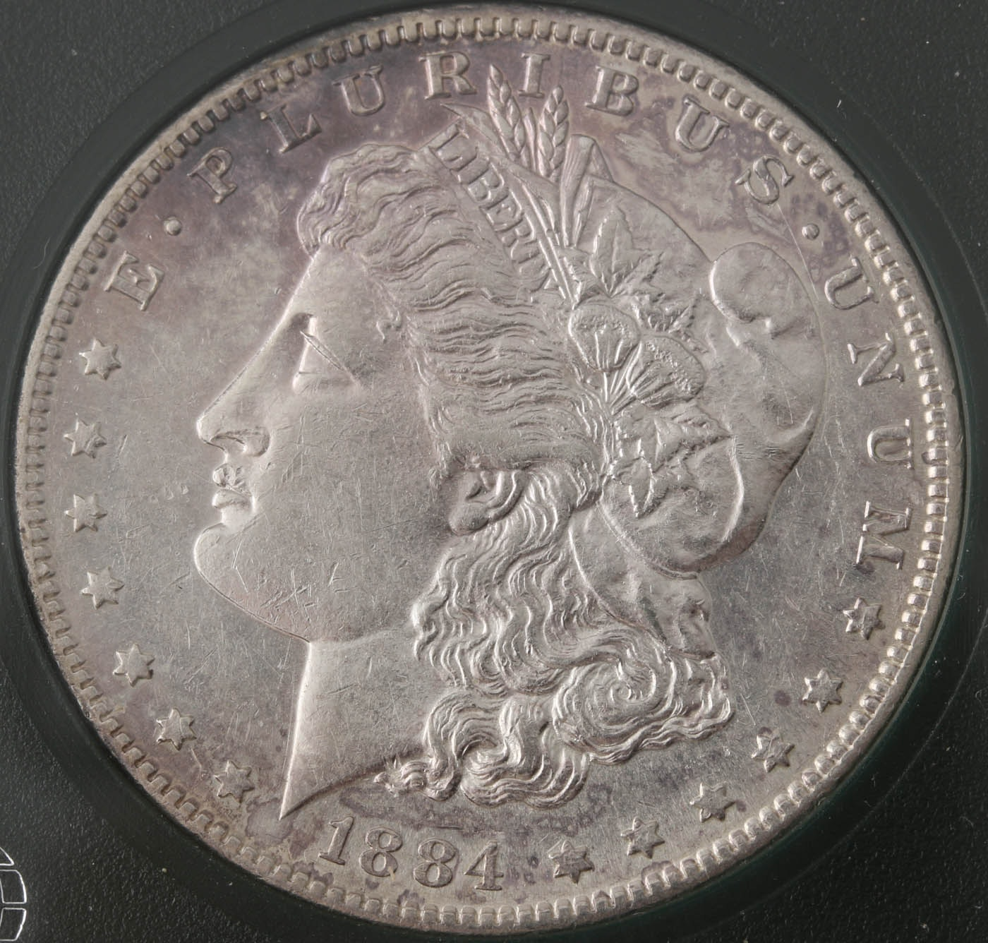 1884 S silver Morgan dollar