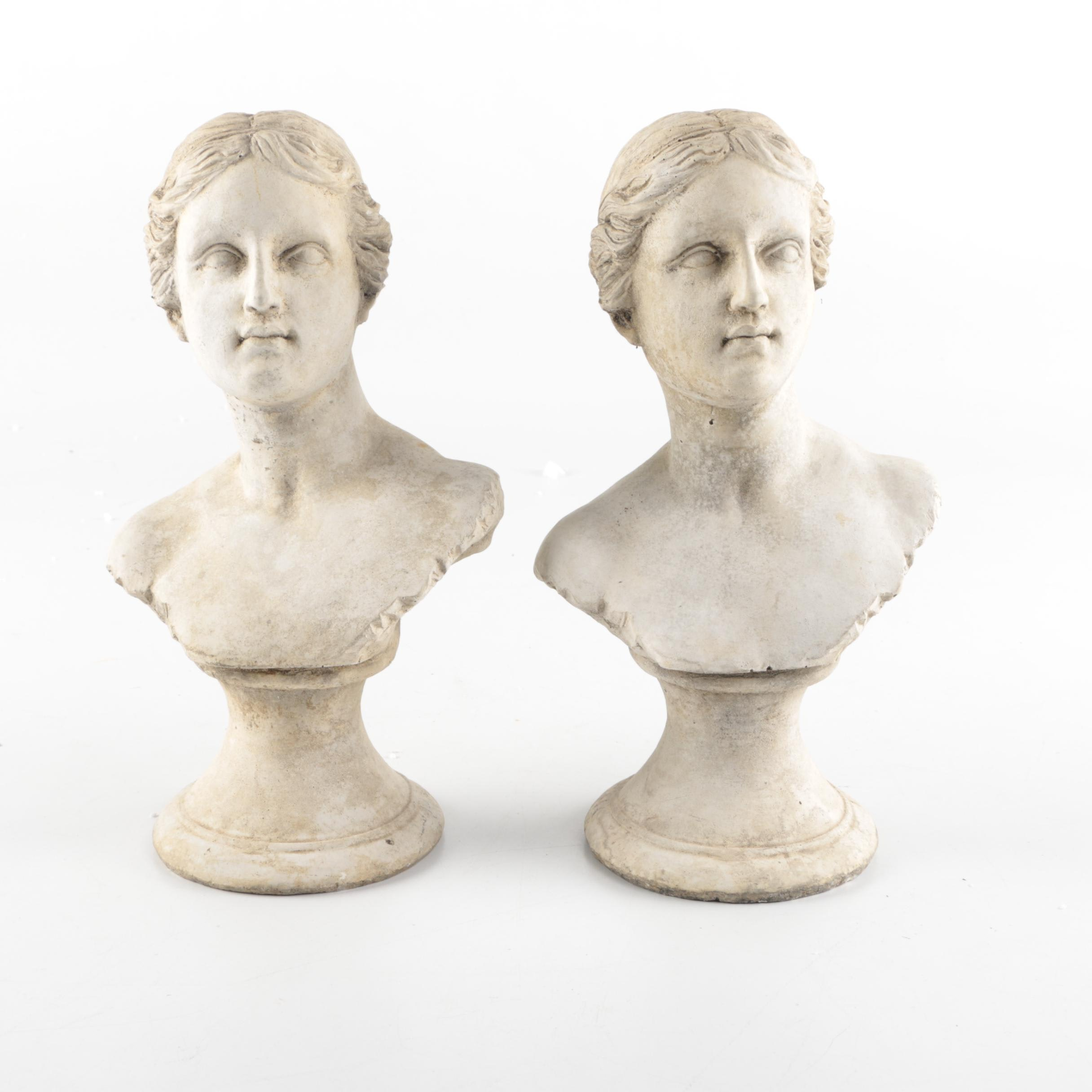 Plaster Busts of Classical Women