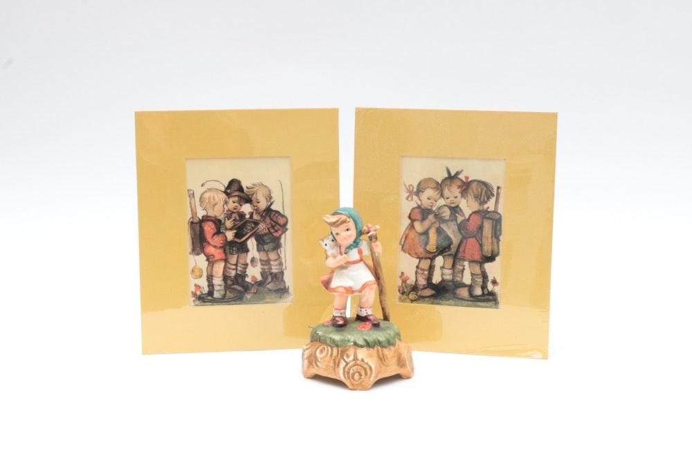 Vintage Hummel Offset Lithographs and Lefton Music Box