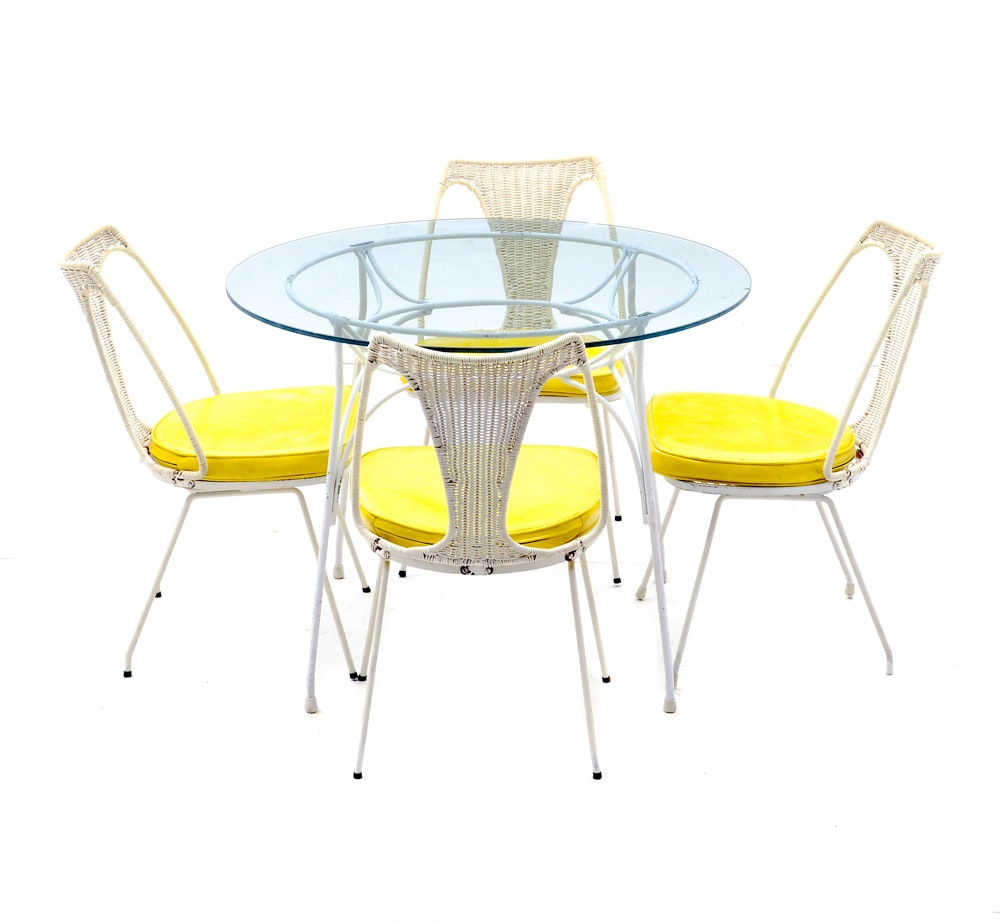 1960s Wrought Iron Dinette Set