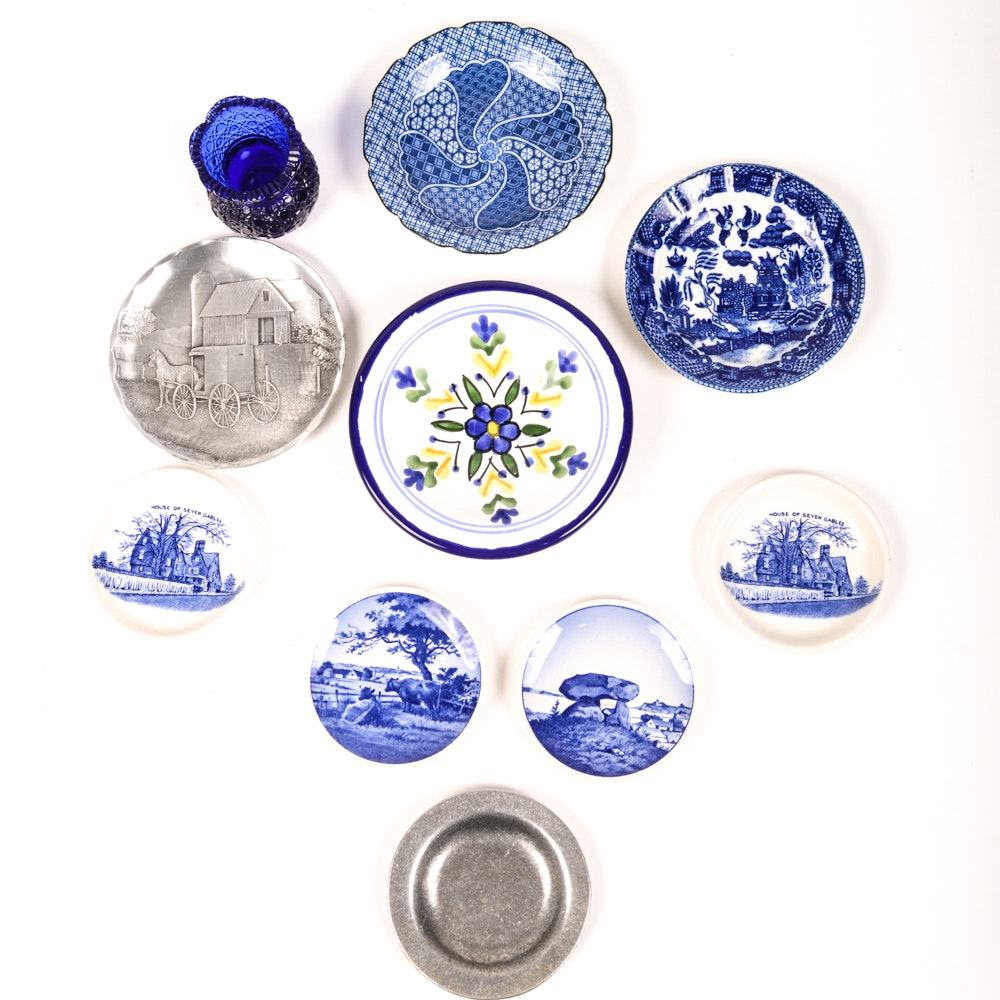 Blue and White Vintage Plates