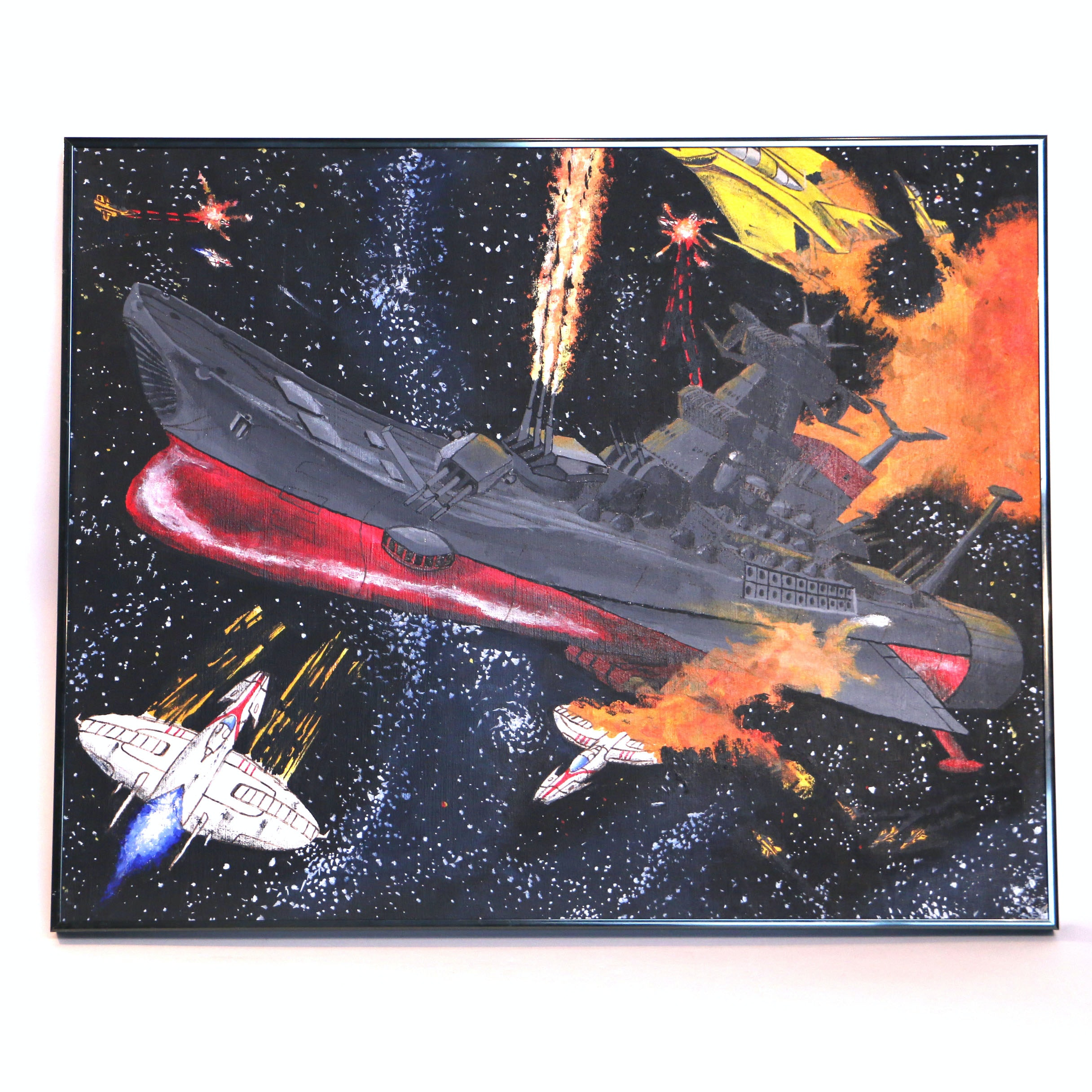 """James Koster Acrylic Painting on Canvas """"The Argo Under Attack"""""""