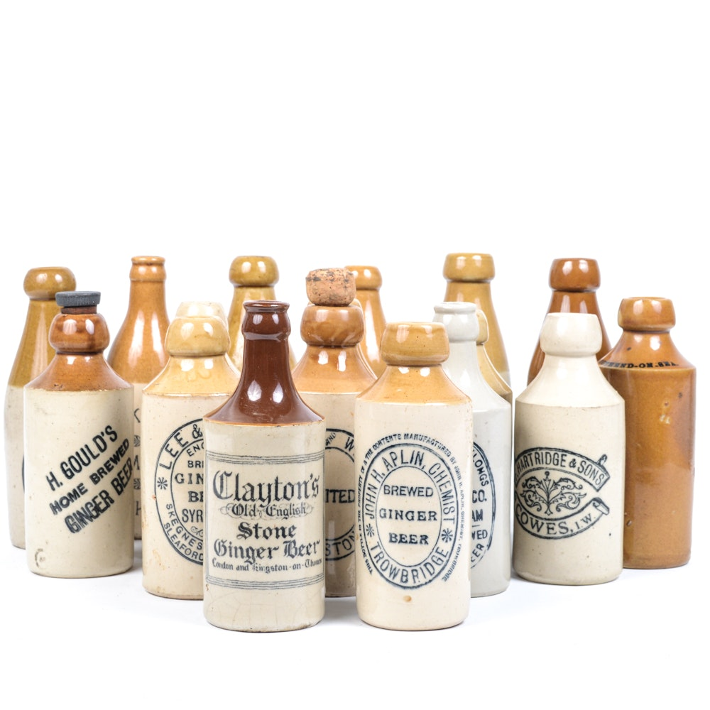 Stoneware Ginger Beer Bottles