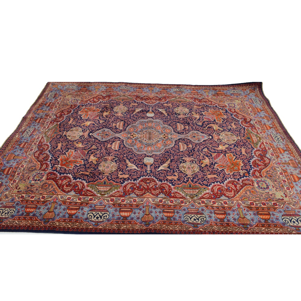 1930 Hand-Knotted Persian Pictorial Rug