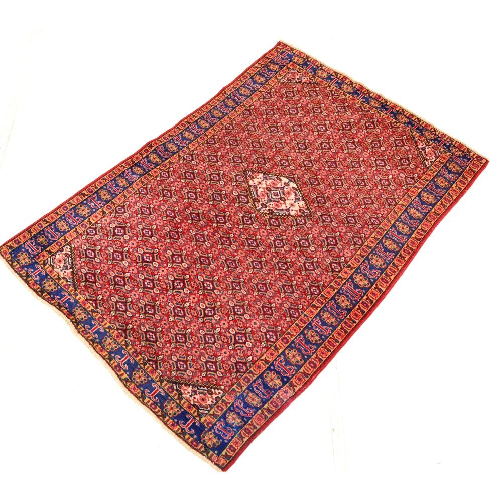 Hand-Knotted Persian Bijar Rug