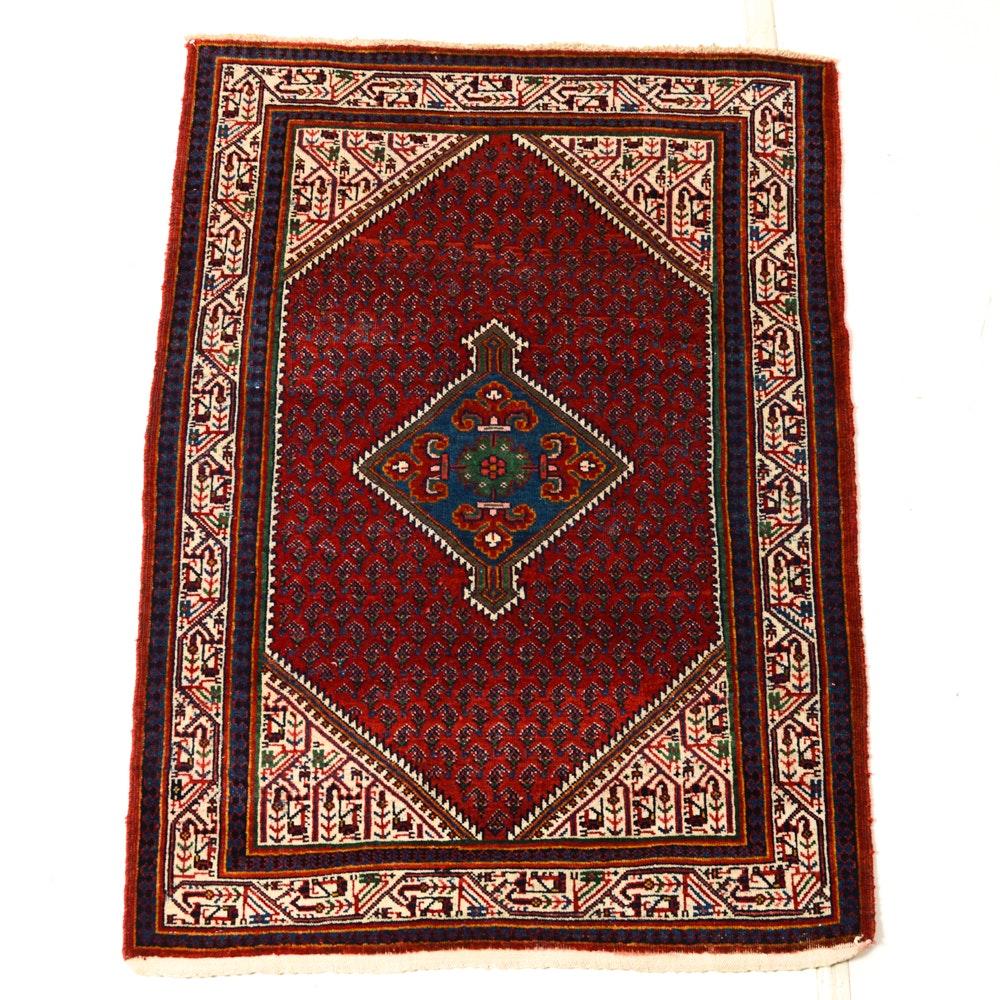 Hand-Knotted Persian Mair-A-Botah Seraband Rug