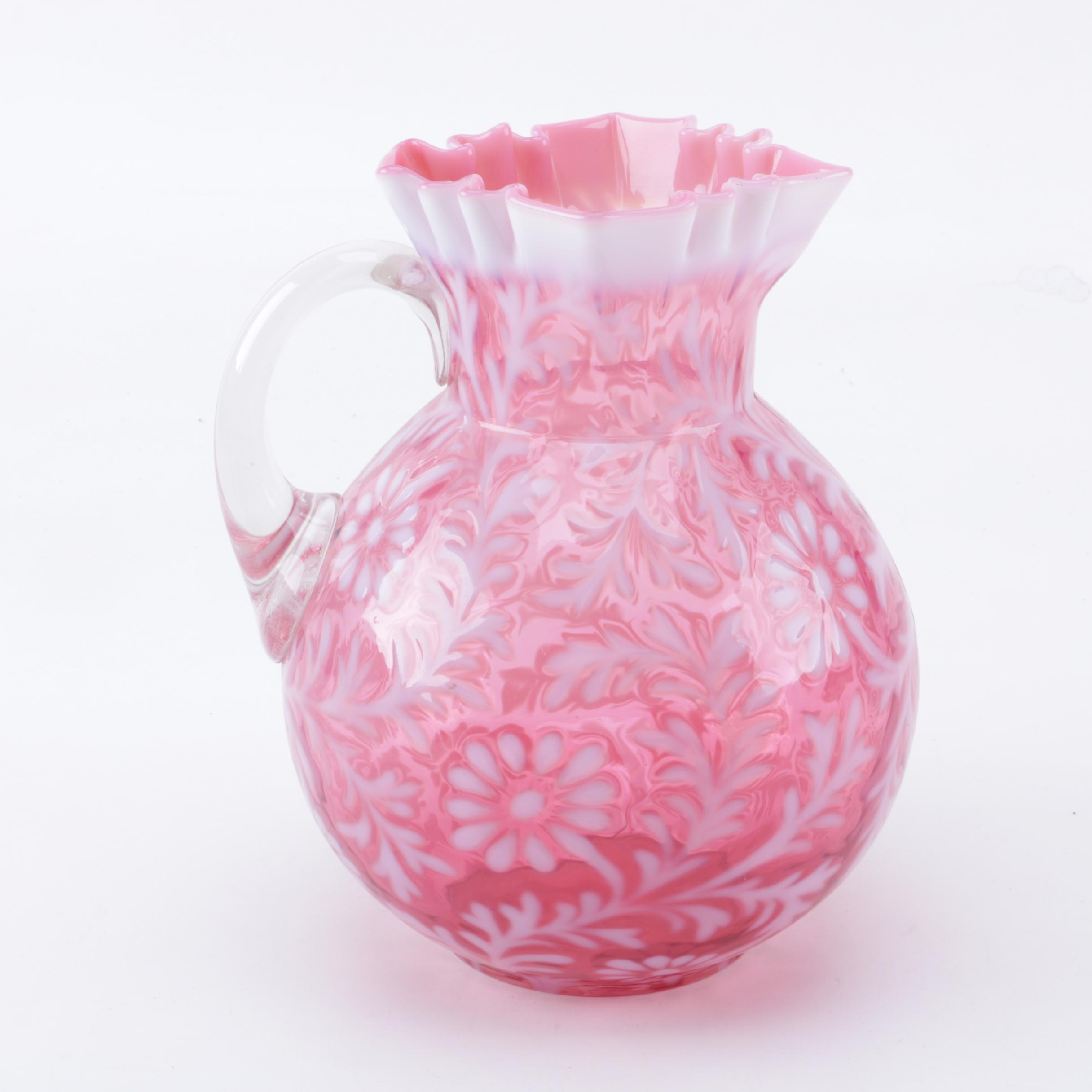 Pink Opalescent Pitcher