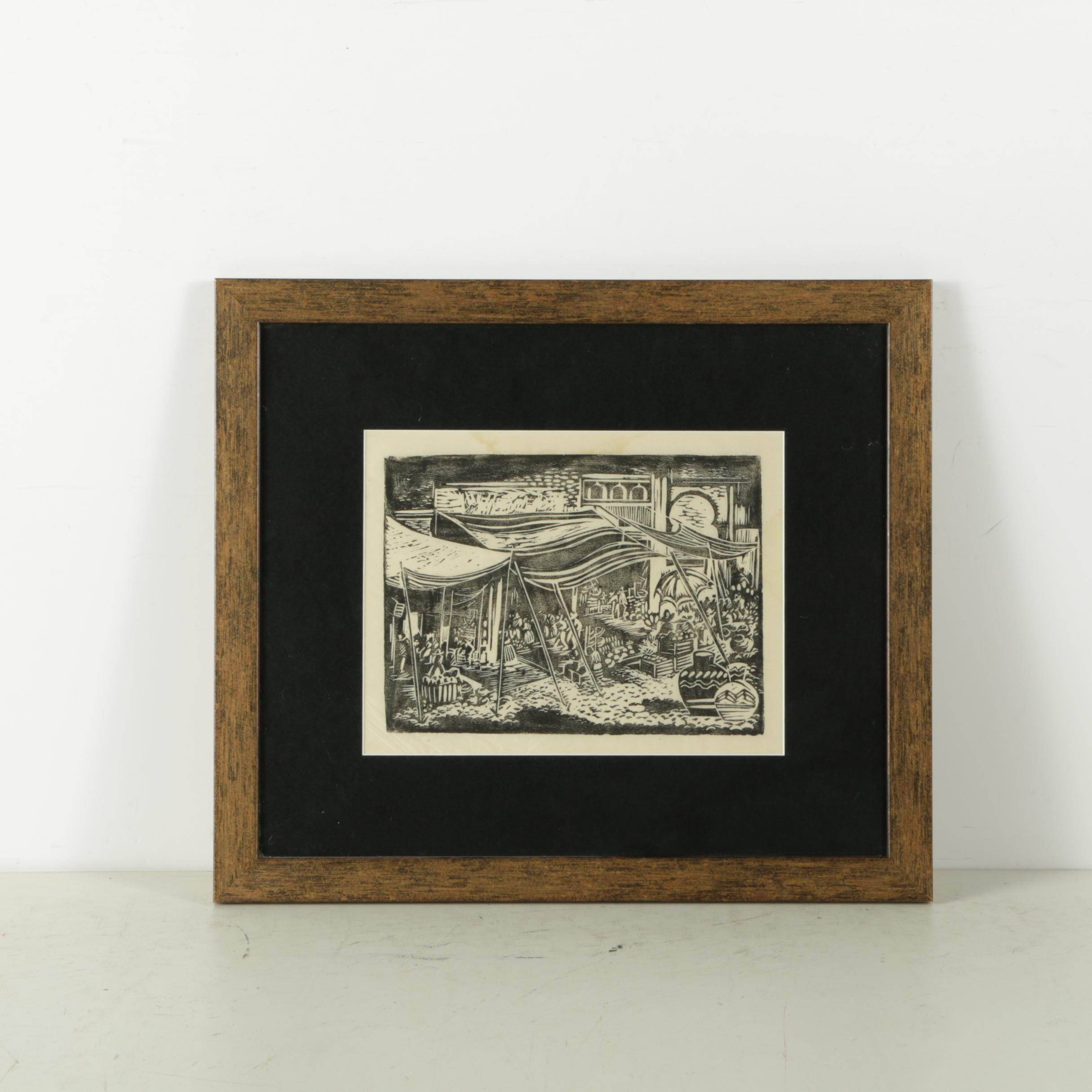 Woodblock Print on Rice Paper