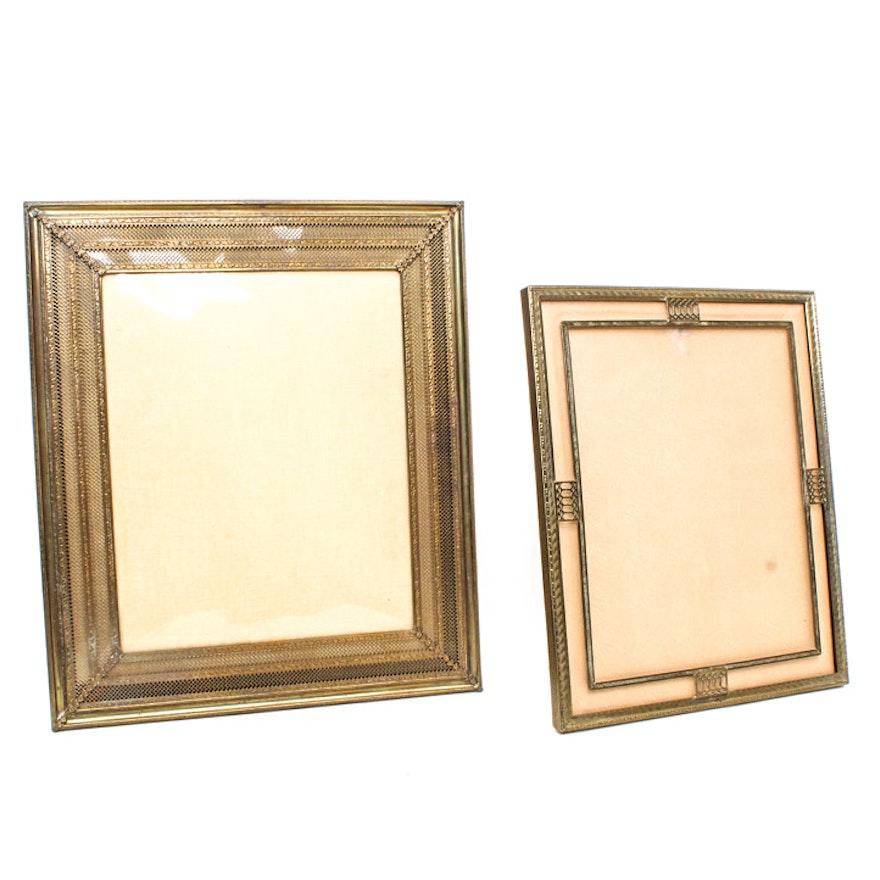 Pair of Vintage Metal Picture Frames : EBTH