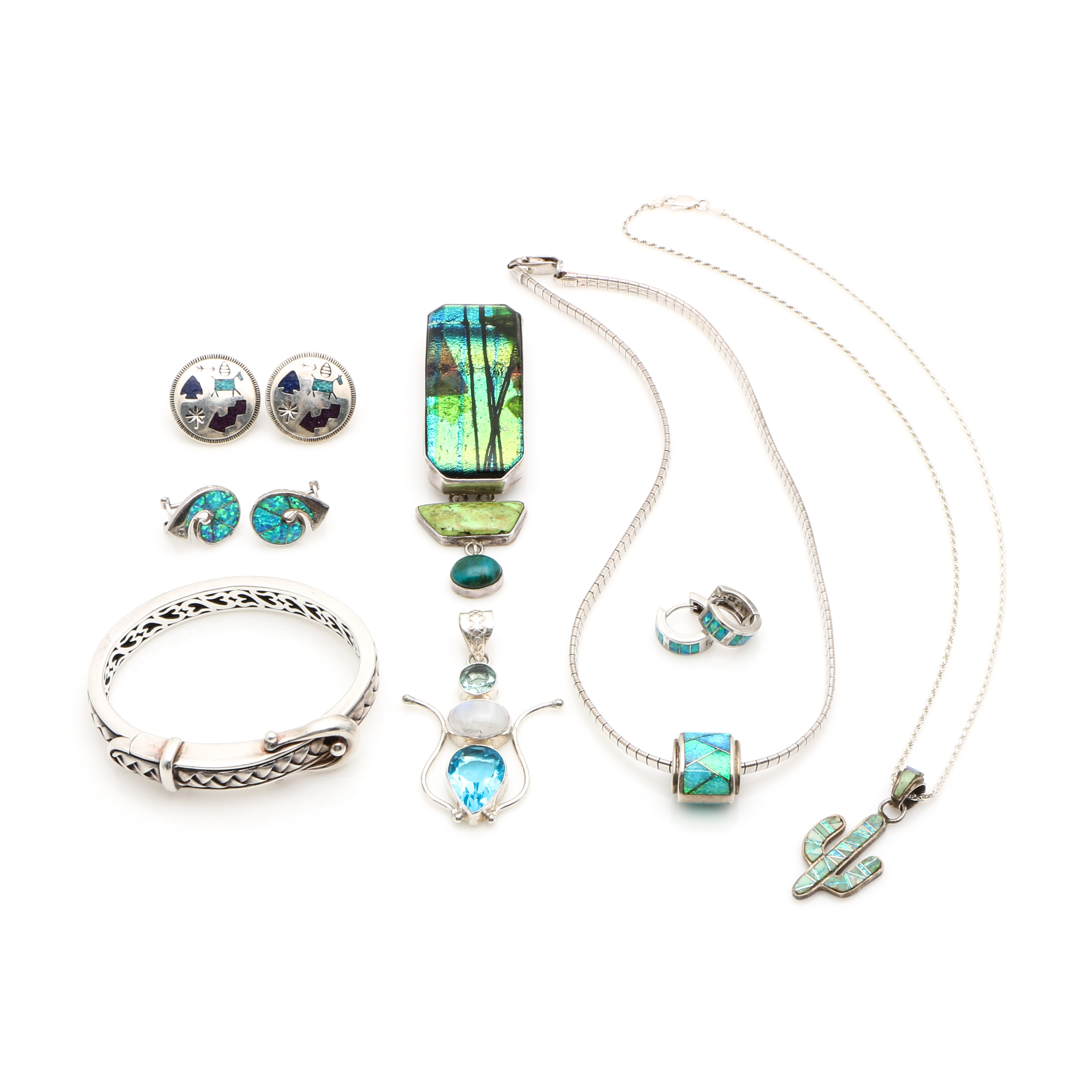 Sterling Silver Jewelry Collection Including Carolyn Pollack