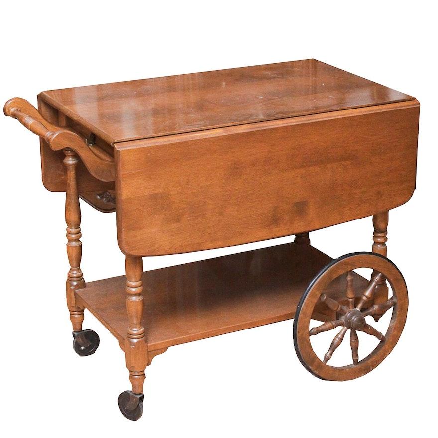 Vintage Walter Of Wabash Maple Tea Cart