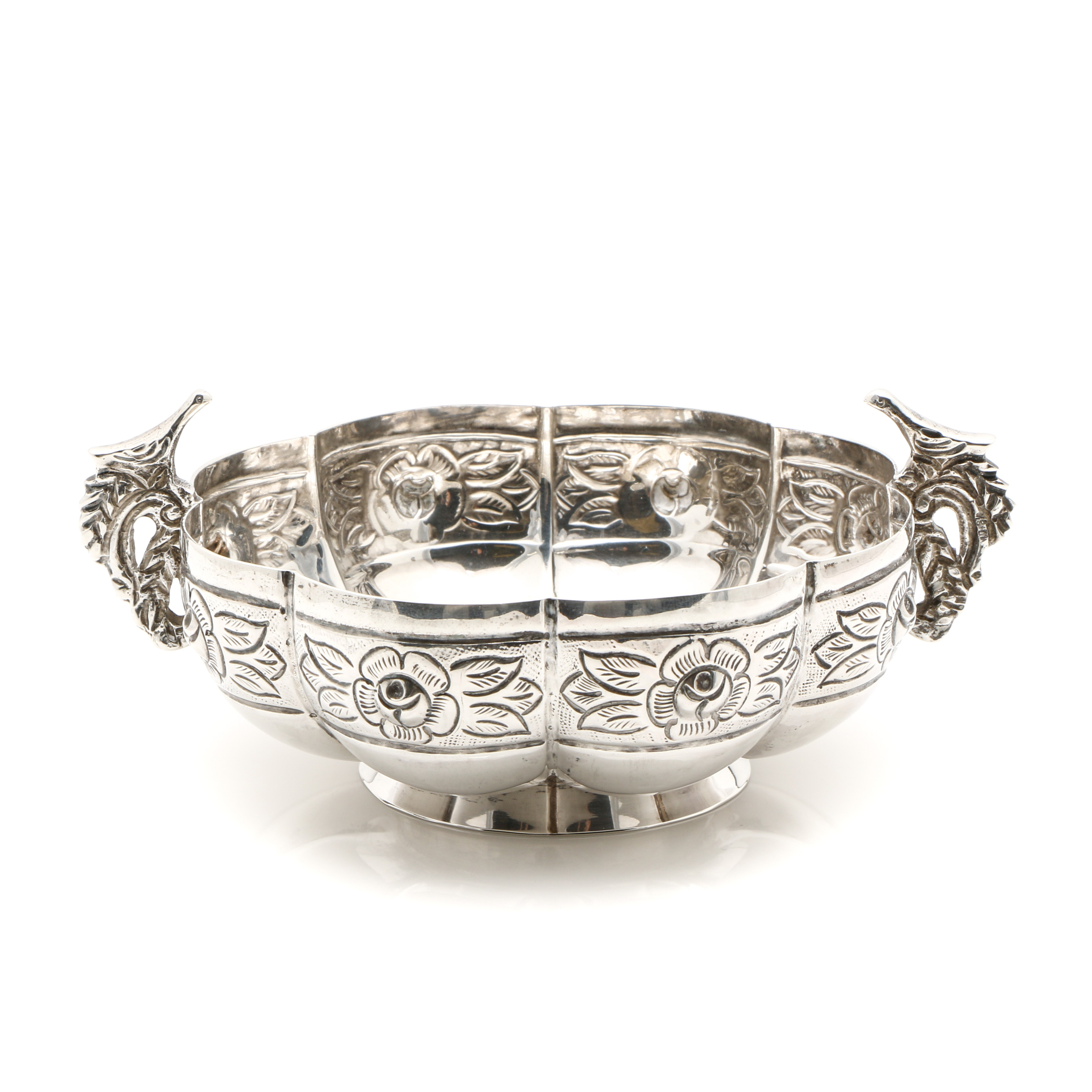 Mexican Sanborns Sterling Silver Footed Bowl