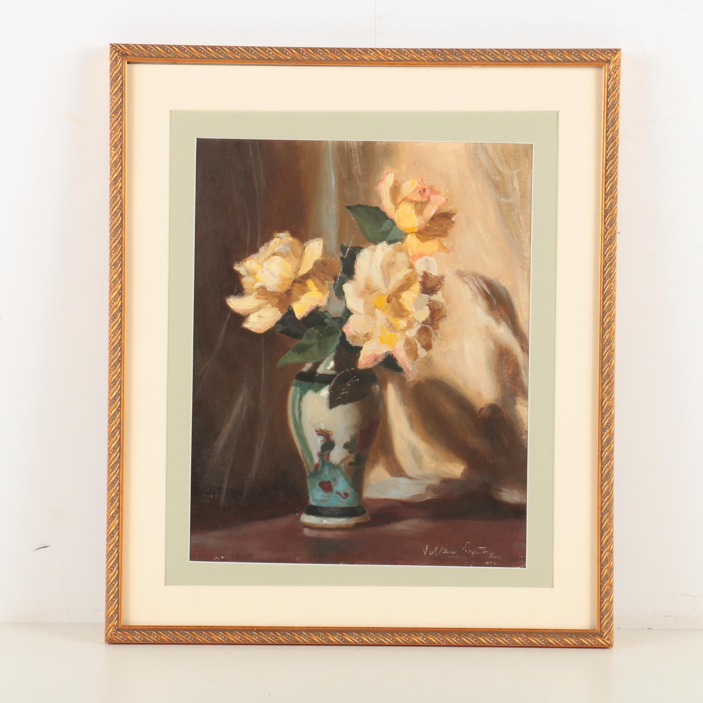 Valerie Praten Oil Painting of a Floral Still Life