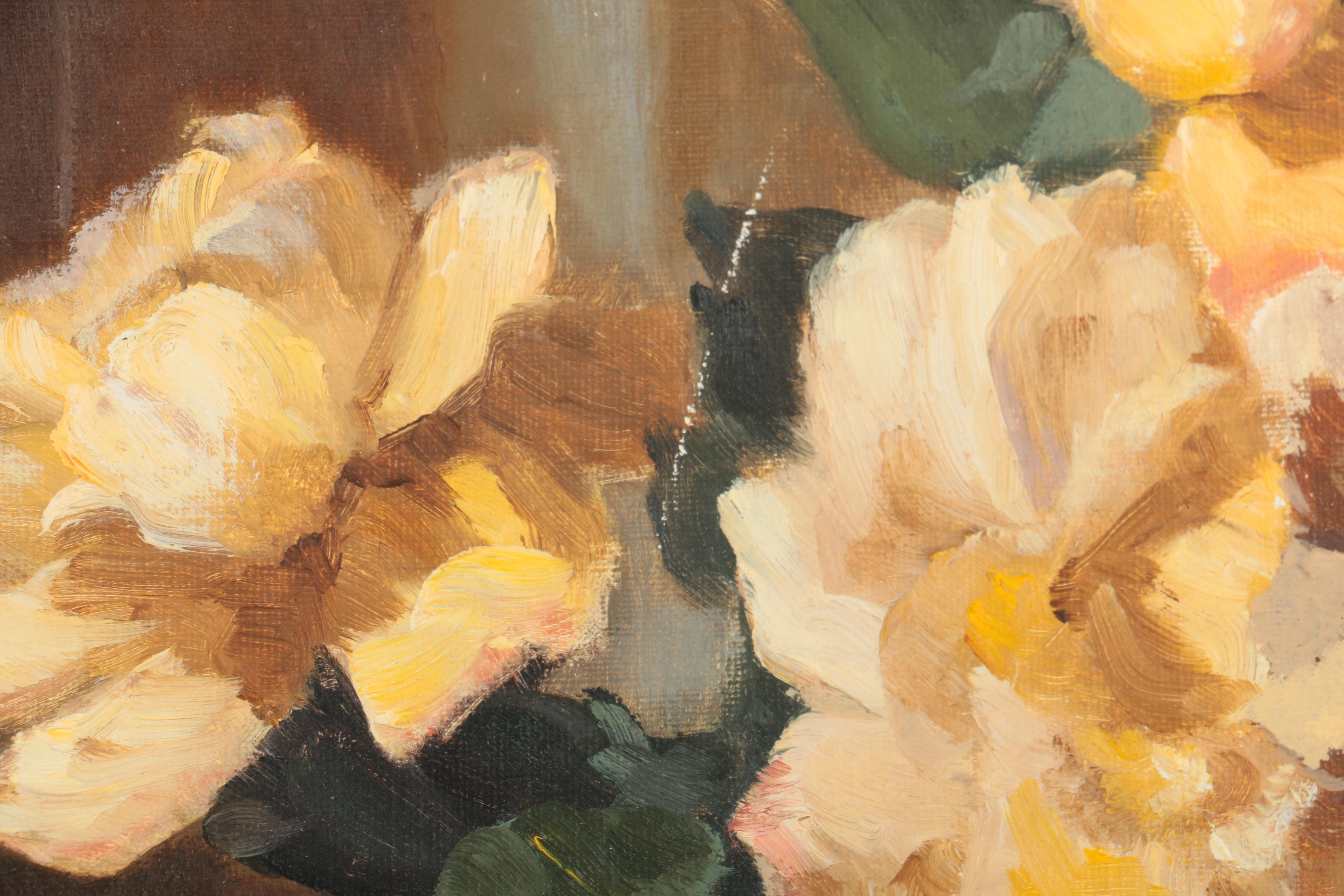 Valerie Praten Oil Painting Of A Floral Still Life Ebth