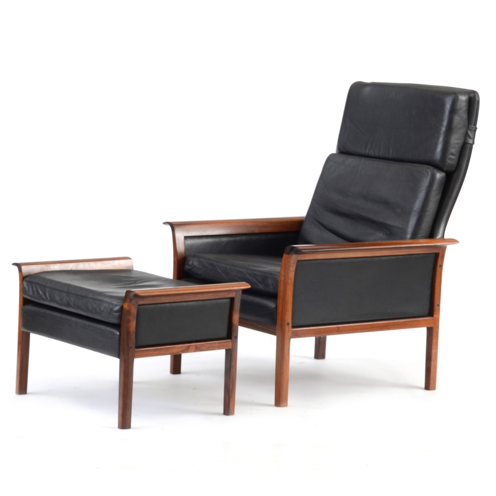 Hans Olsen for Vatne Mobler Lounge Chair and Ottoman