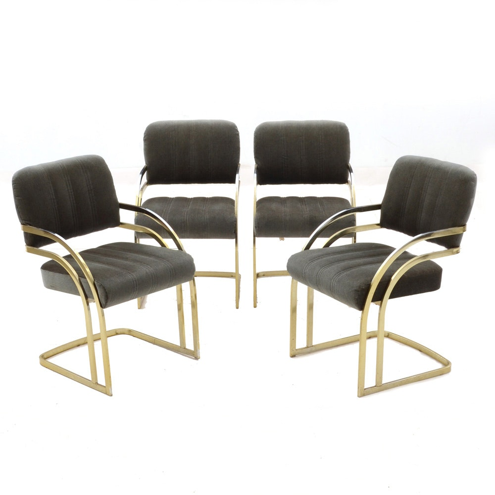 Cantilevered Arm Chairs By Daystrom Furniture