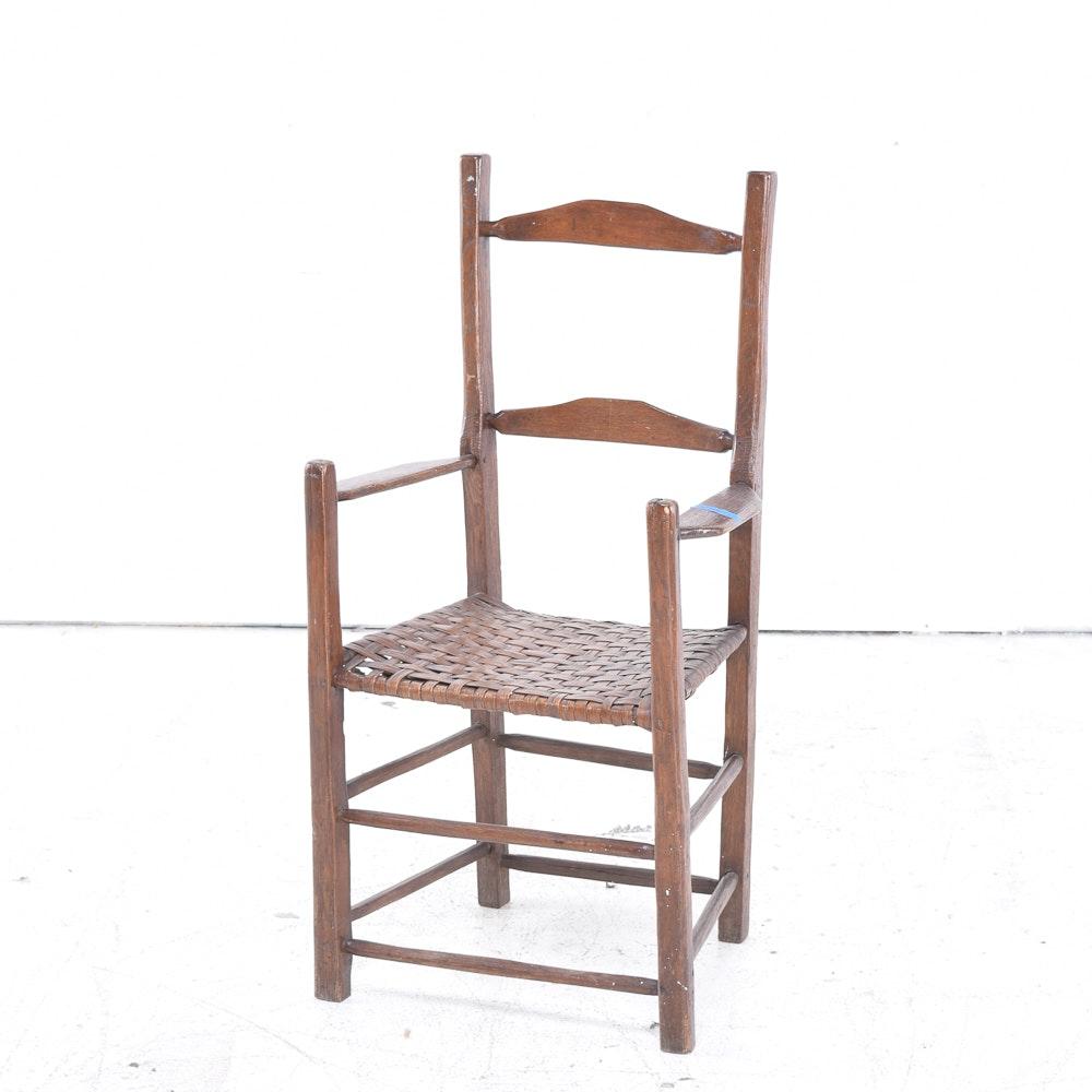 Vintage Ladderback Armchair