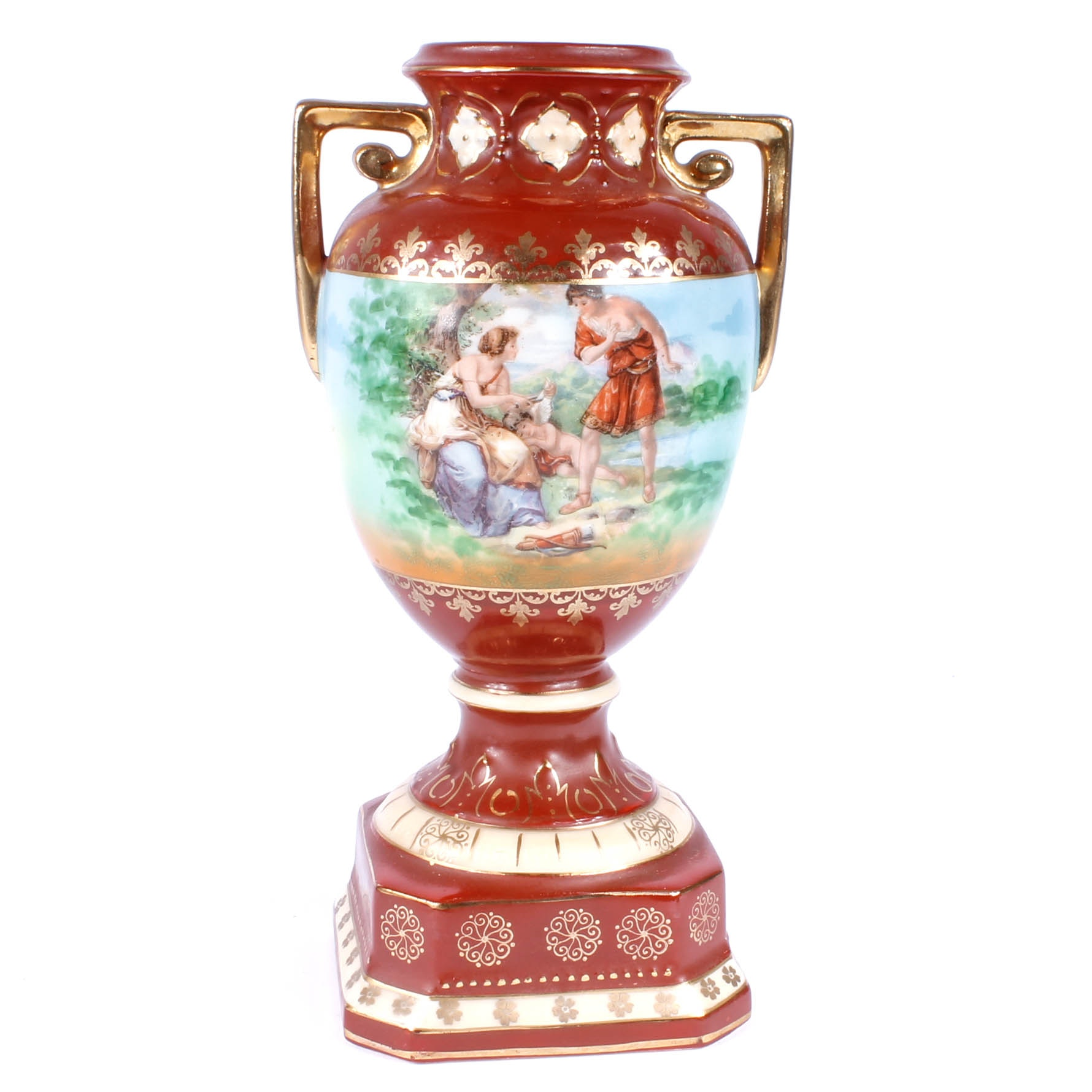 Hand-Painted Vintage Czech Porcelain Vase