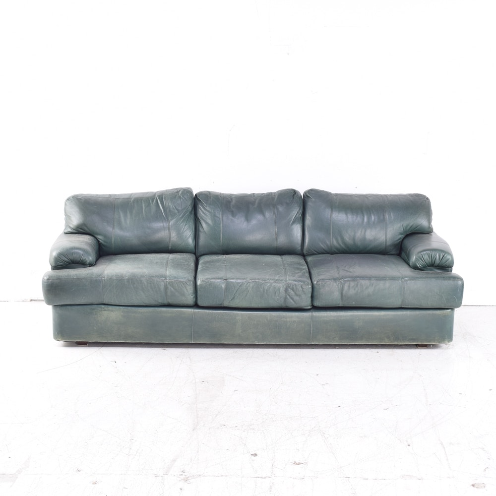 Leather Sofa by Old Granite Leather Craftsmen