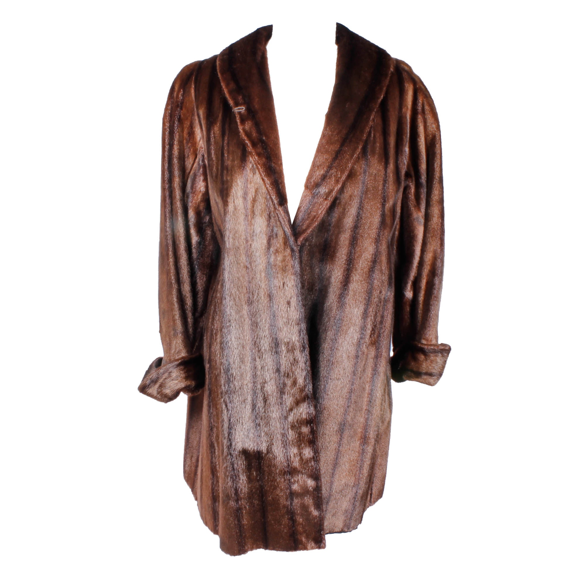 Vintage Dark Brown Fur Coat