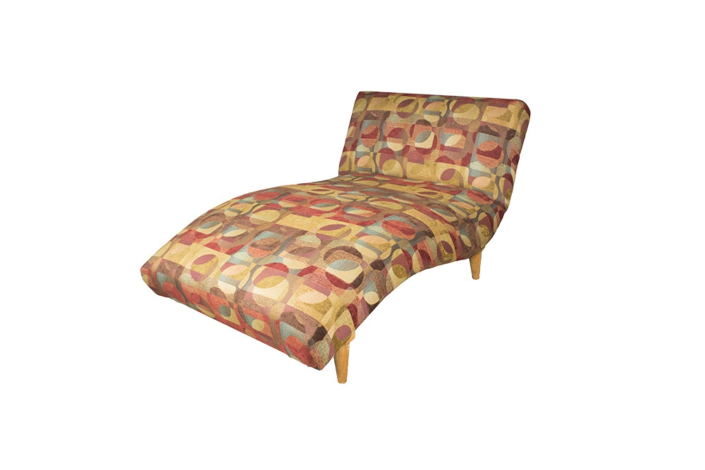 Deco revival style chaise lounge ebth for Art deco style chaise lounge