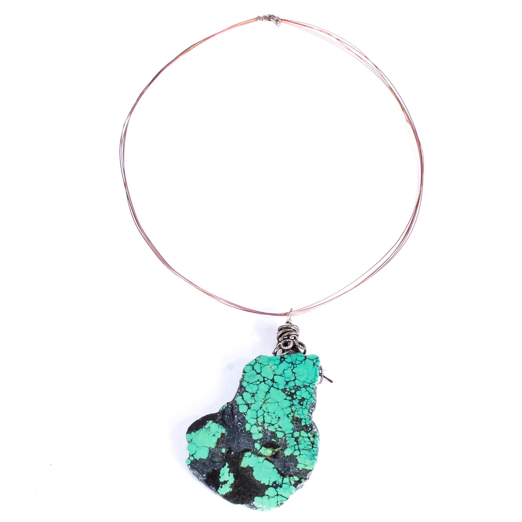 Collar Necklace with Stone Pendant
