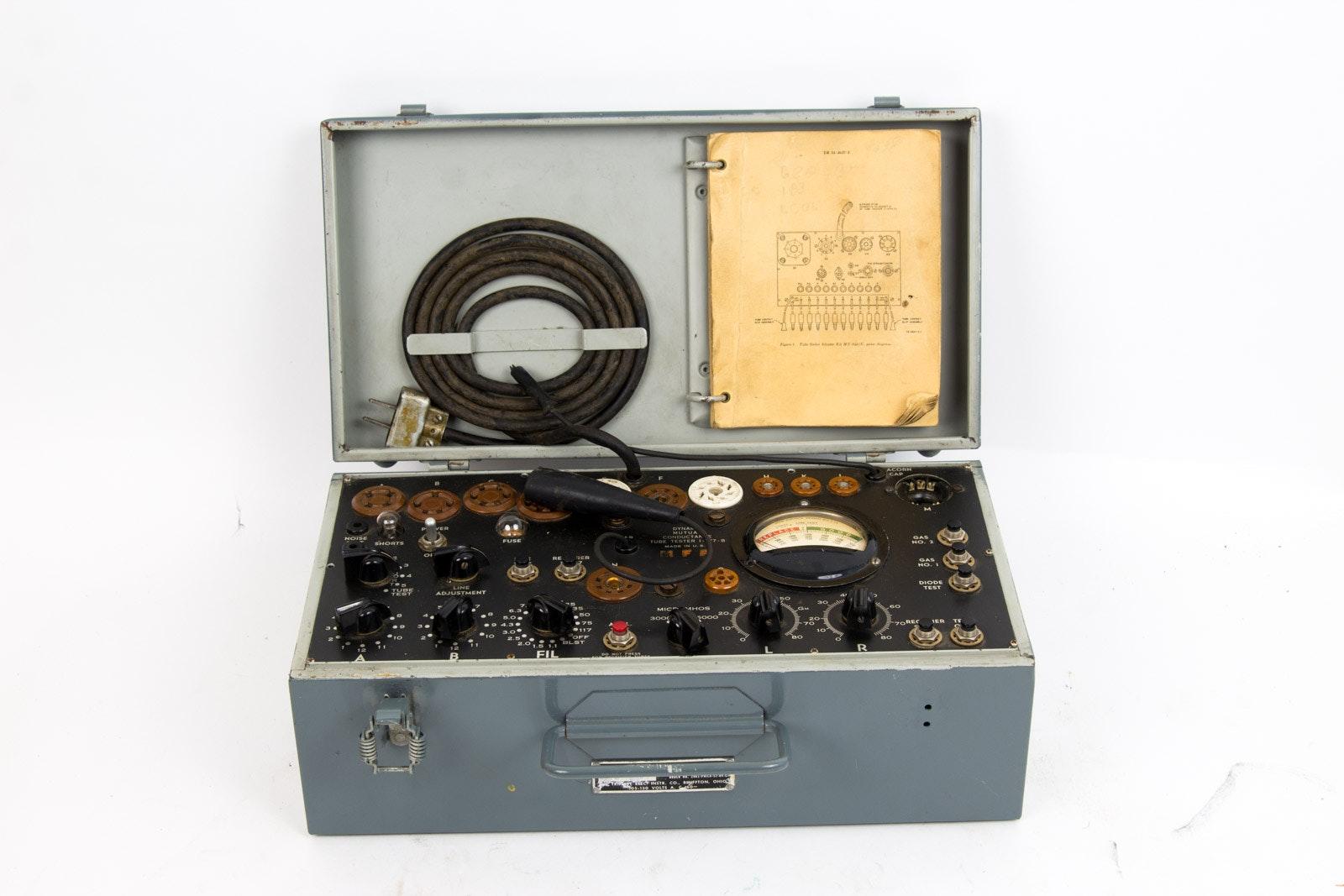 Signal Corp Tube Tester Model 1-77-B
