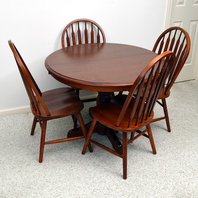 S Bent Amp Bros Oak Farmhouse Style Dining Room Table And