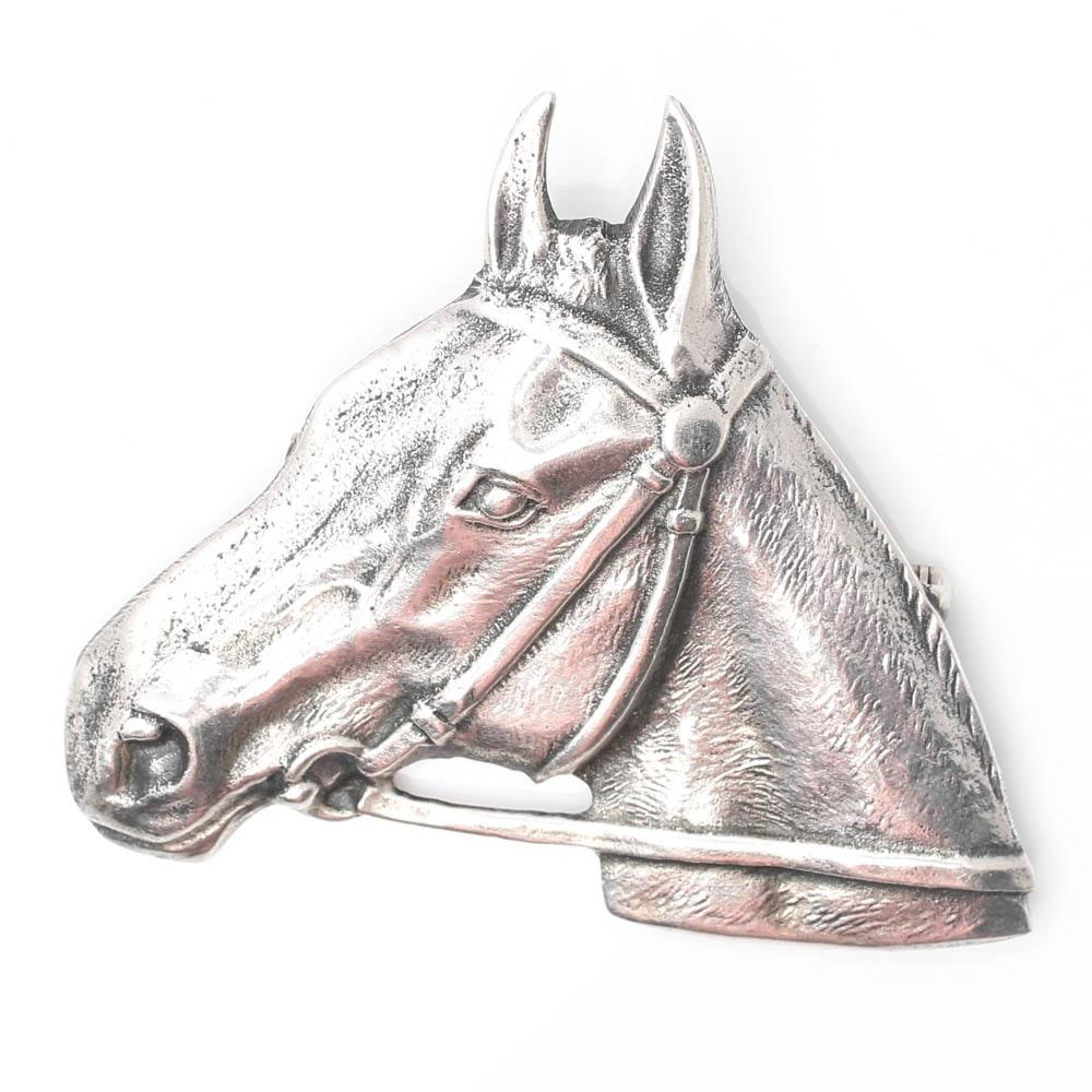 Sterling Silver Horse Head Brooch