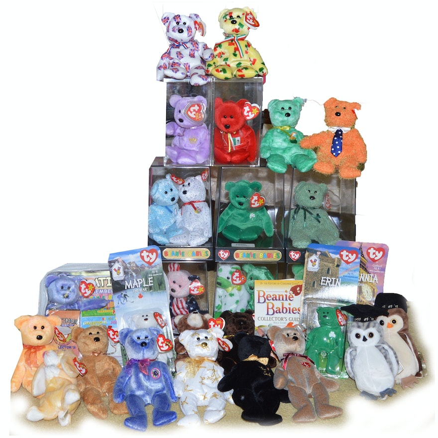 Generous Beanie Baby Collection of Commemorative Bears   EBTH f73179b5ab6a
