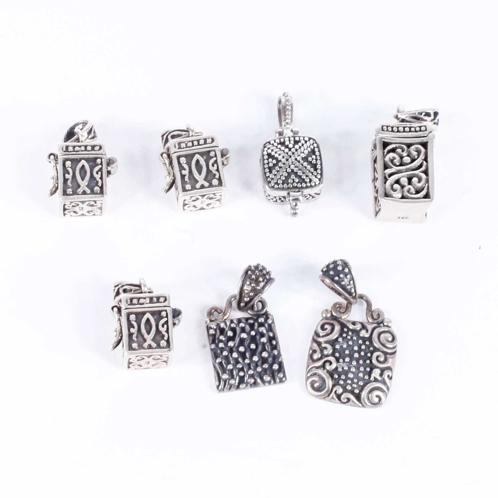 Sterling Silver Charm and Pendant Assortment