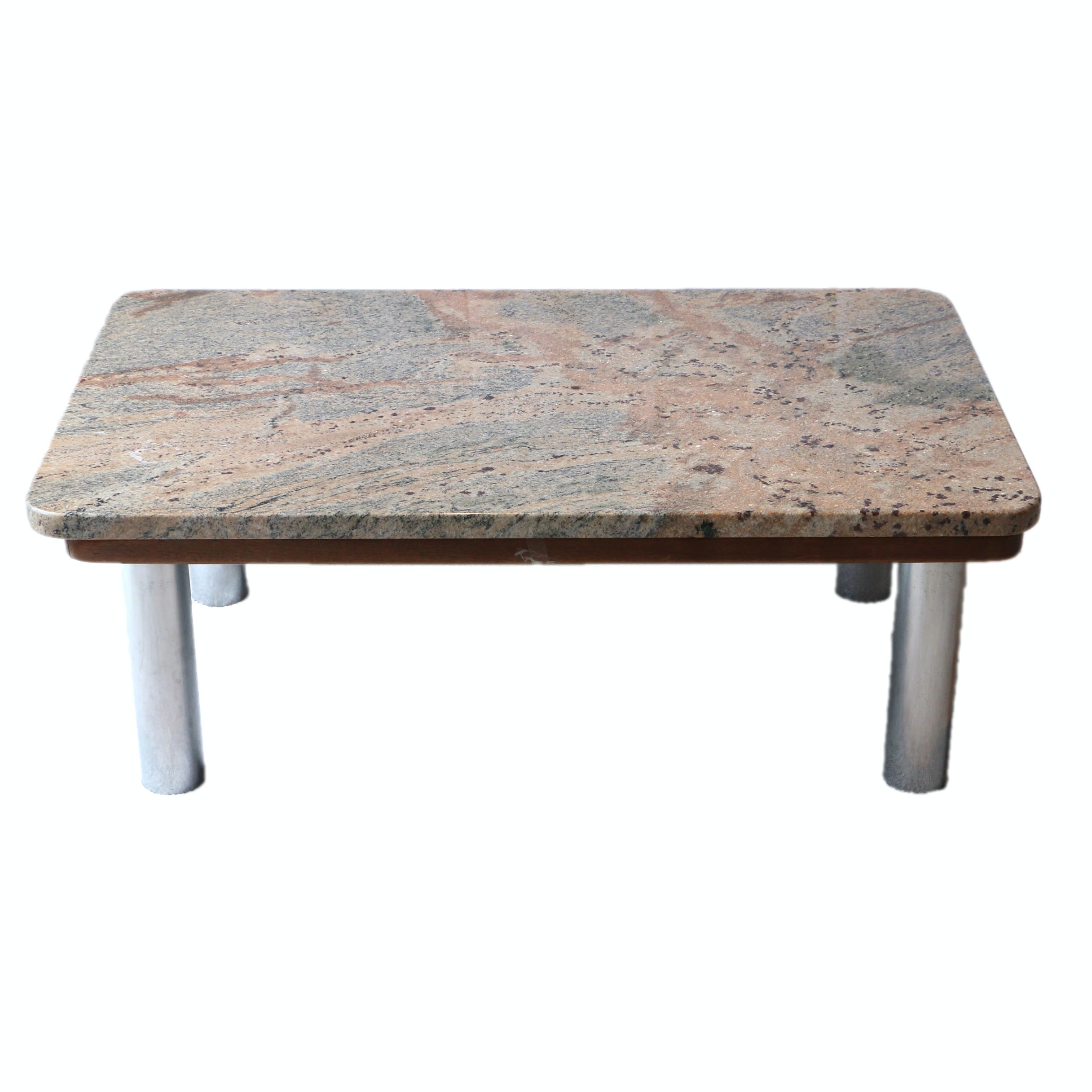 Pink and Grey Stone Top Coffee Table