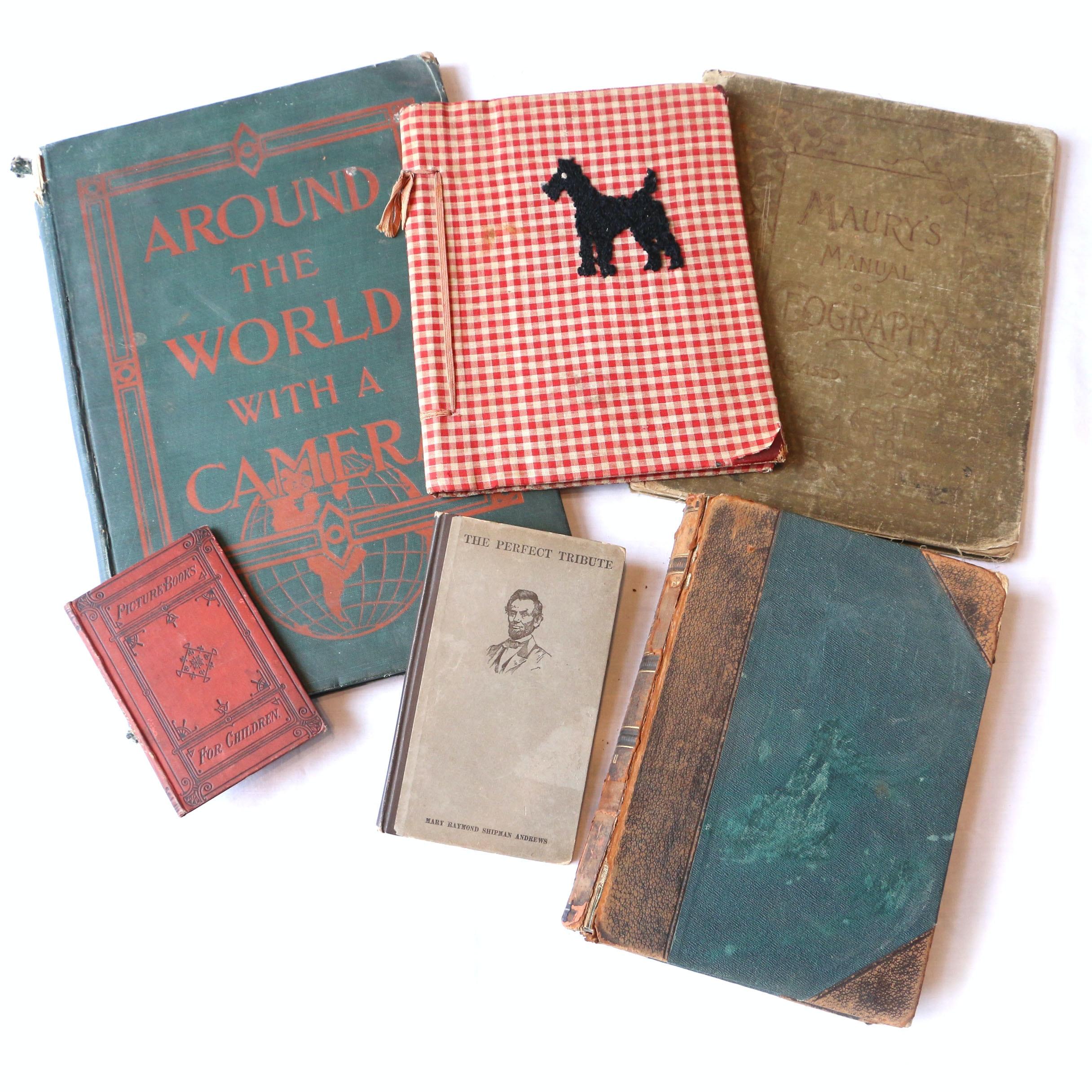 1931 Handmade Fabric Children's Book and Antique Books
