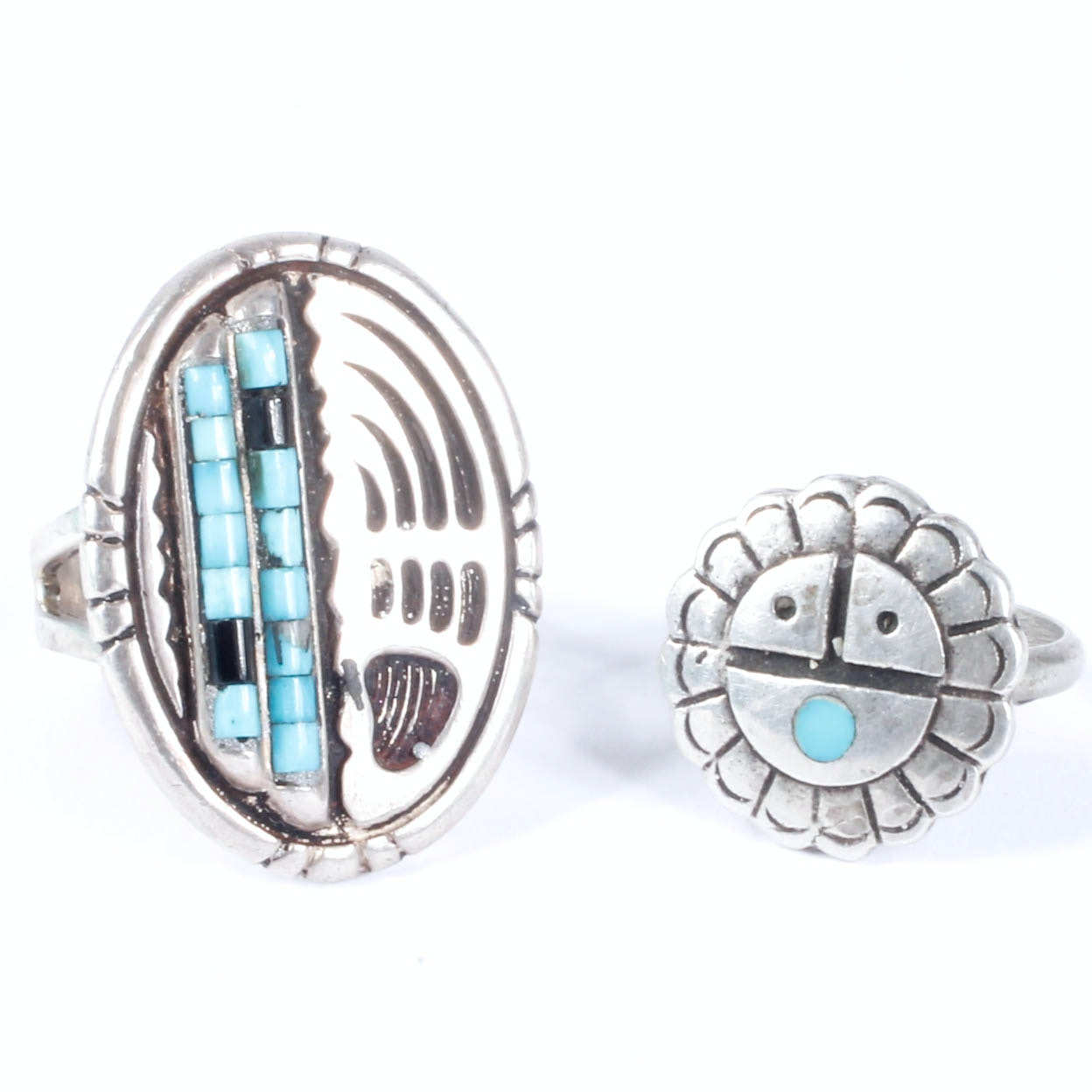 Sterling Silver Native American-Style Rings