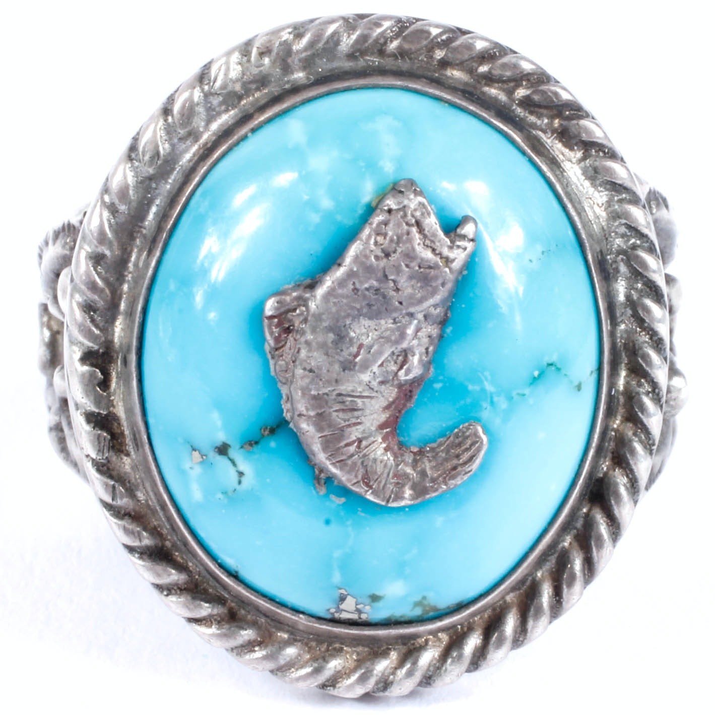 Harry Martinez Native American Navajo Sterling and Turquoise Ring