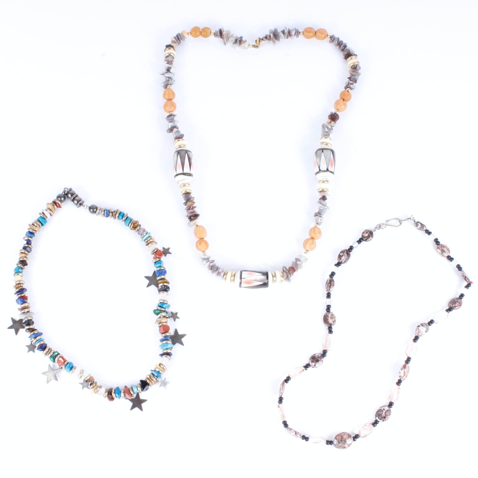 Semi-Precious Stone Bead Necklaces