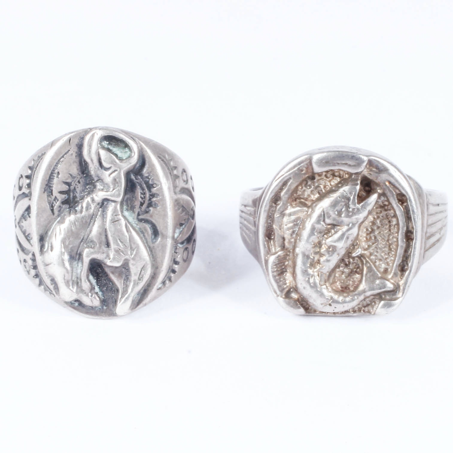 Sterling Silver Signet-Style Rings