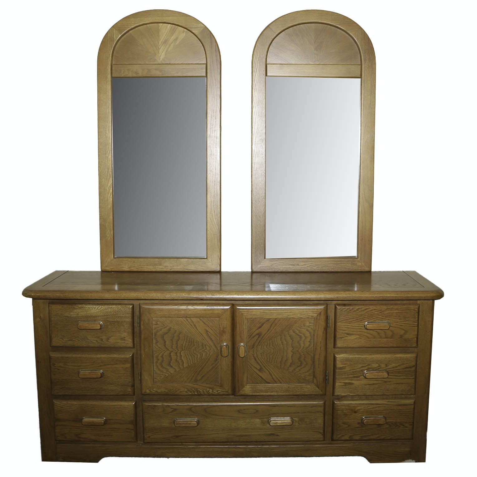 Vintage Dresser with Double Mirrors