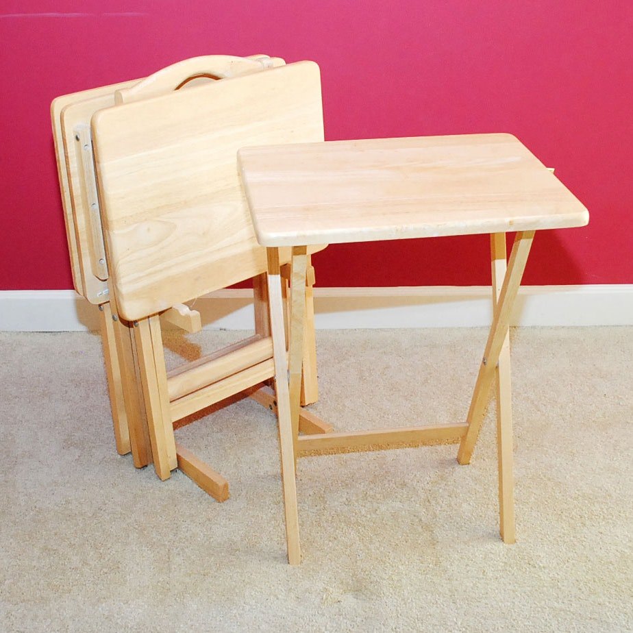Folding Tray Tables with Stand EBTH