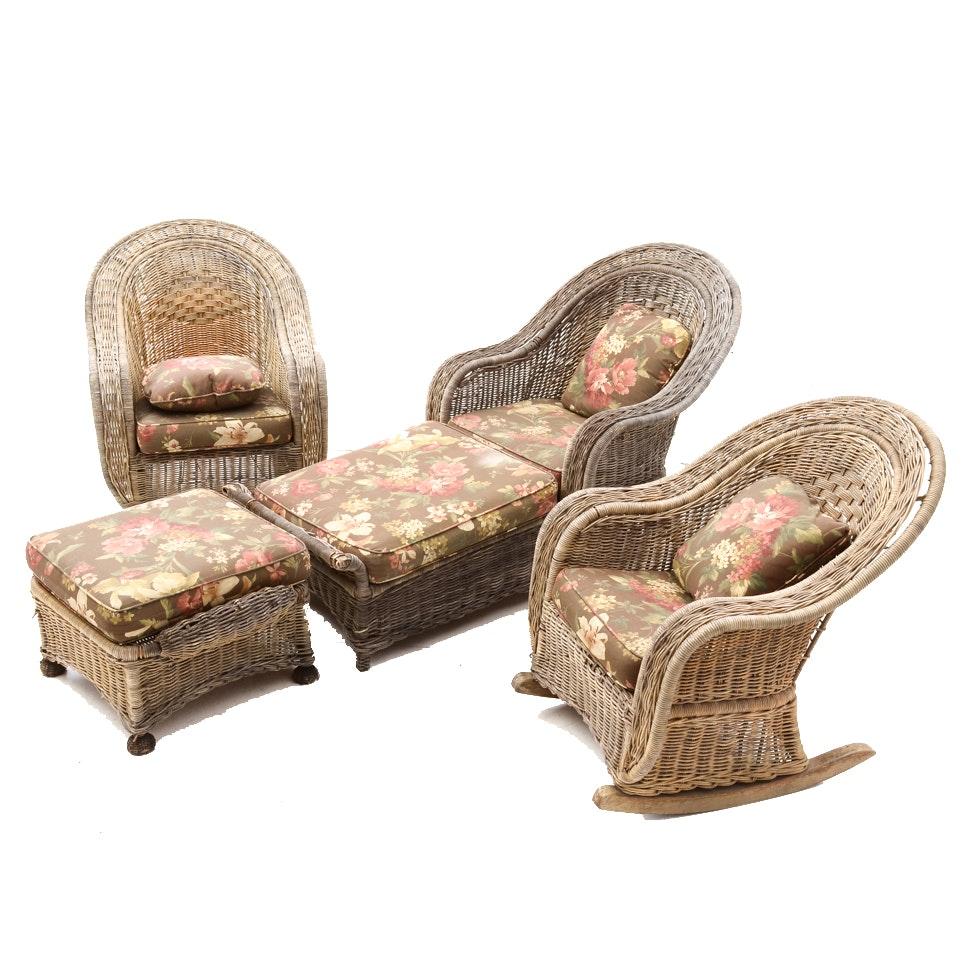 Set of Wicker Patio Furniture